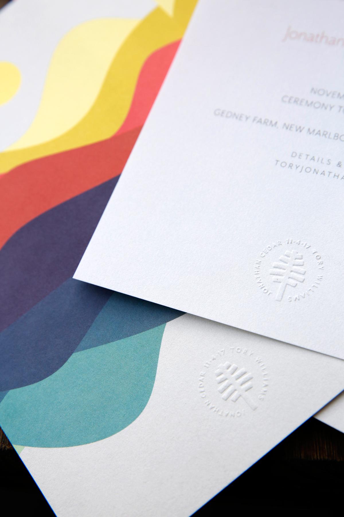 tory jonathan wedding invite