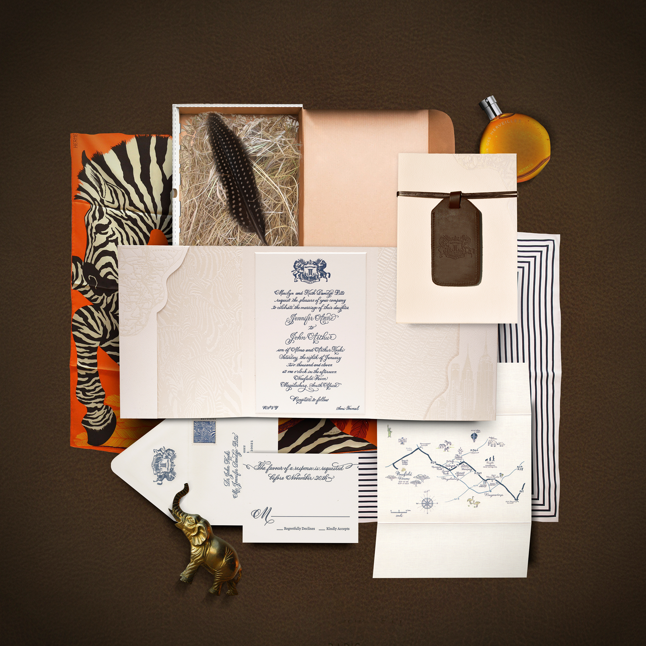 Wedding Invitations in Mailer Boxes