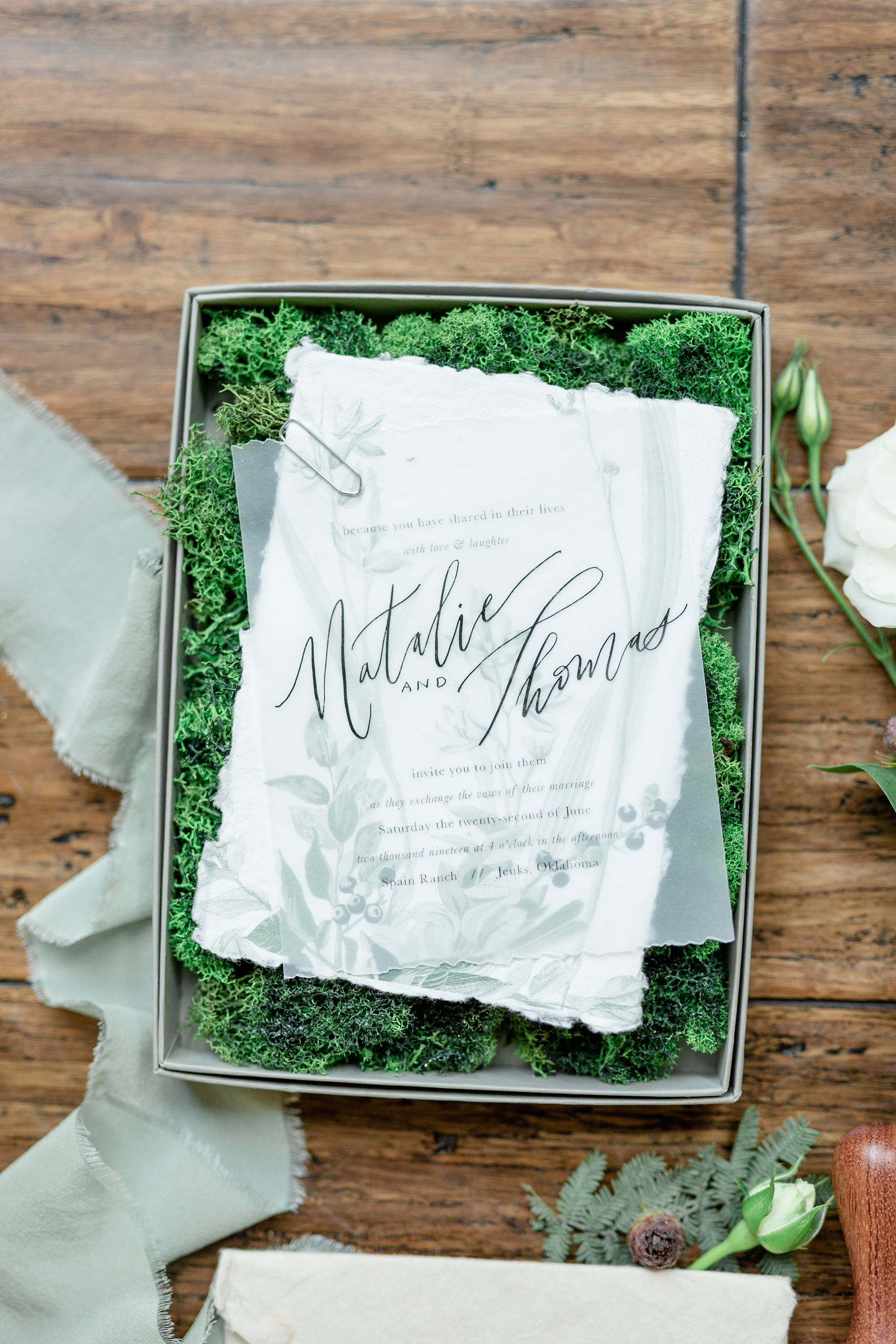 Mossy Boxed Wedding Invitations