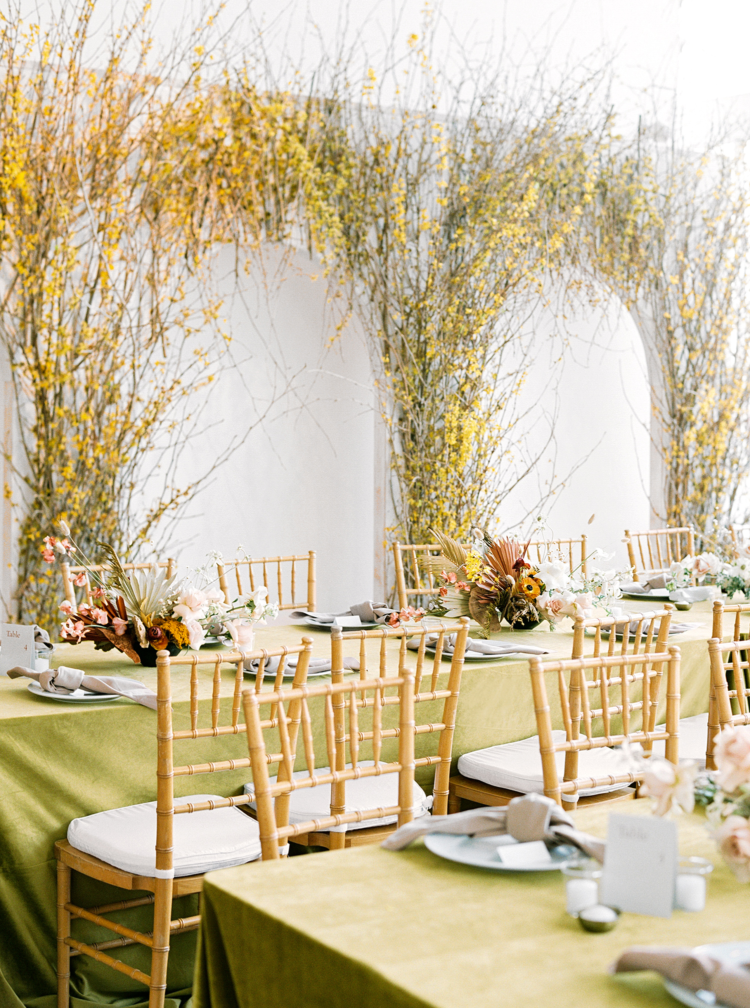 kae danny wedding reception tables