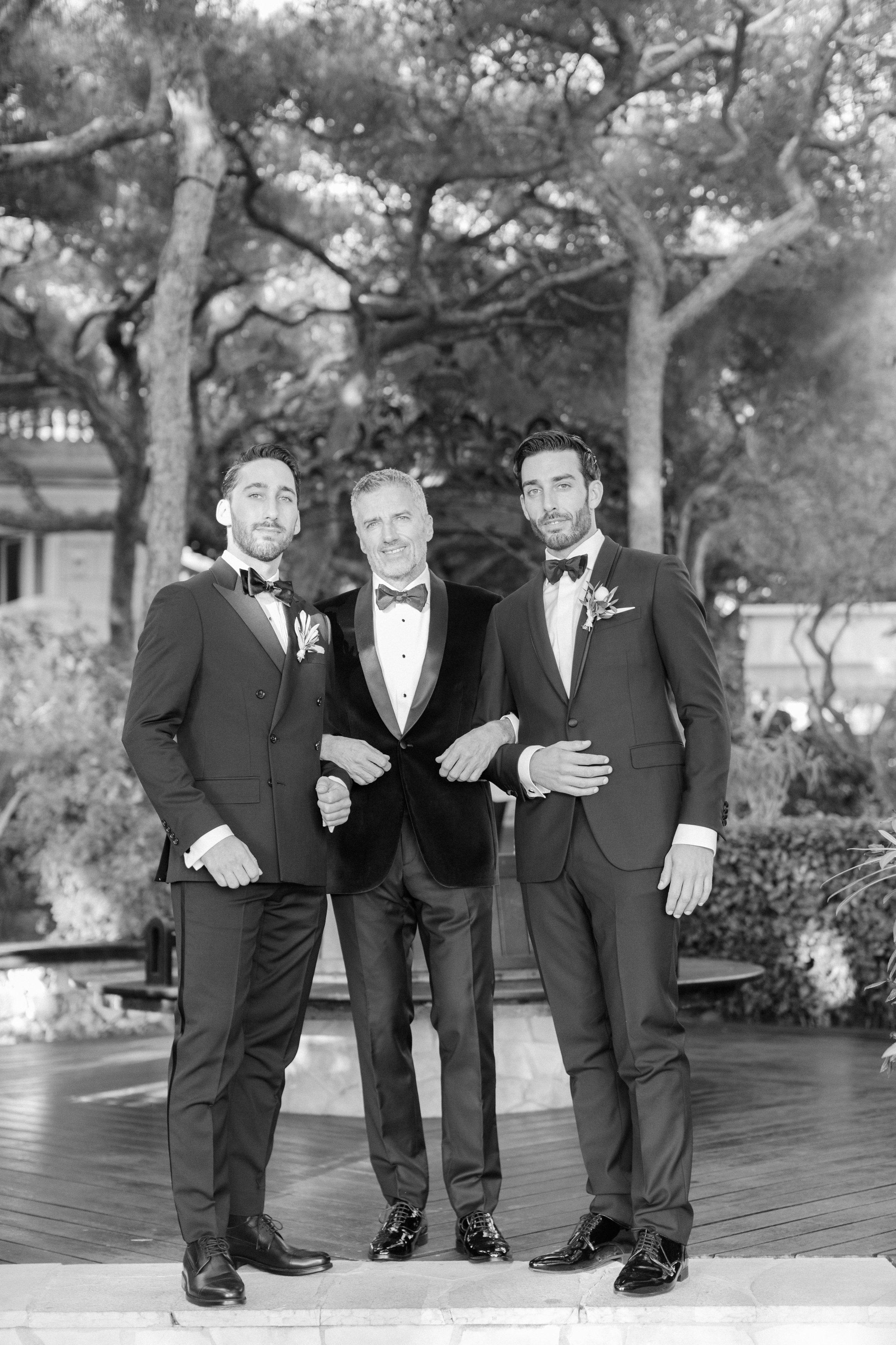 jiannina enzo wedding groomsmen