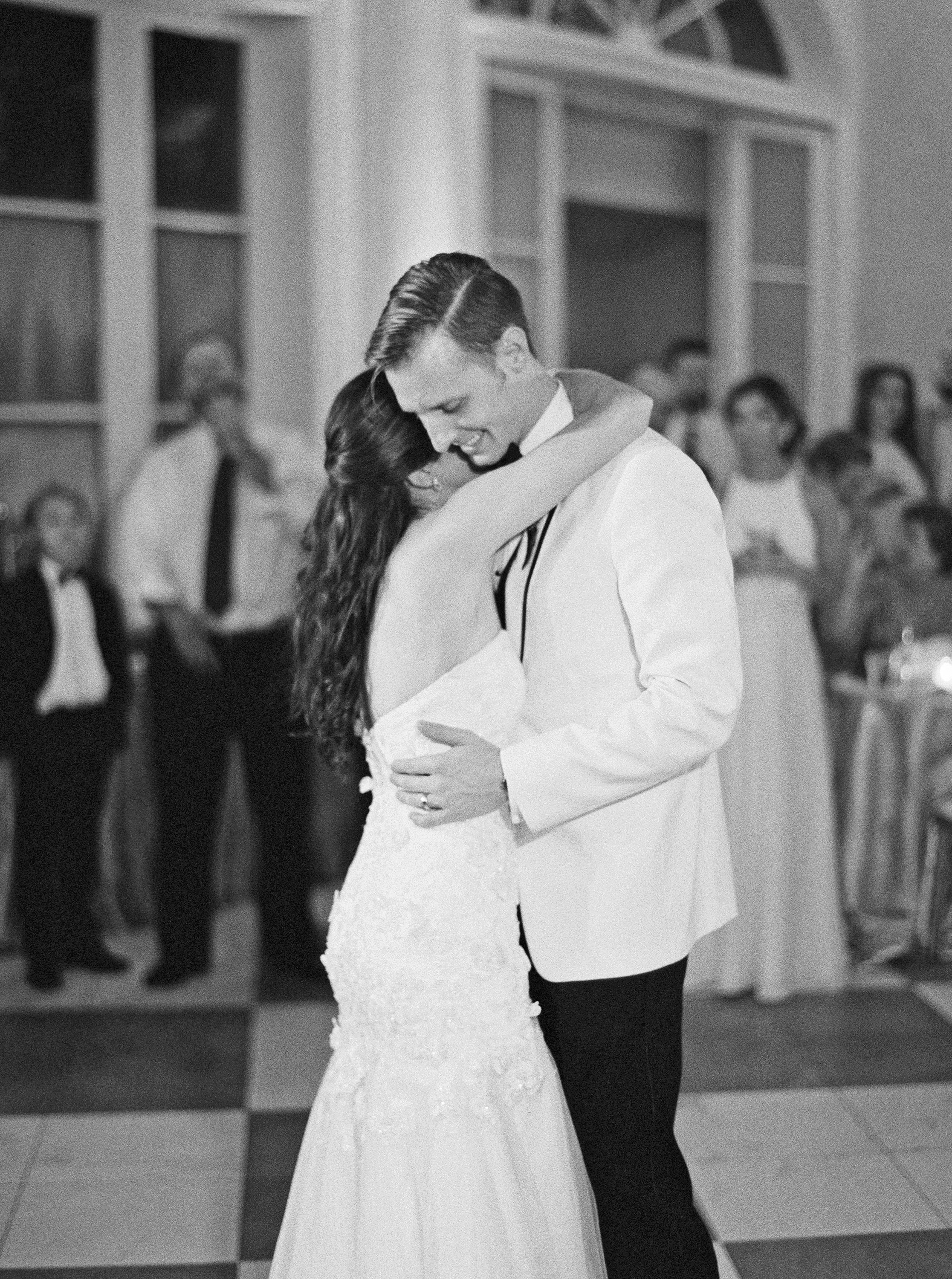 kate austin wedding firstdance bw