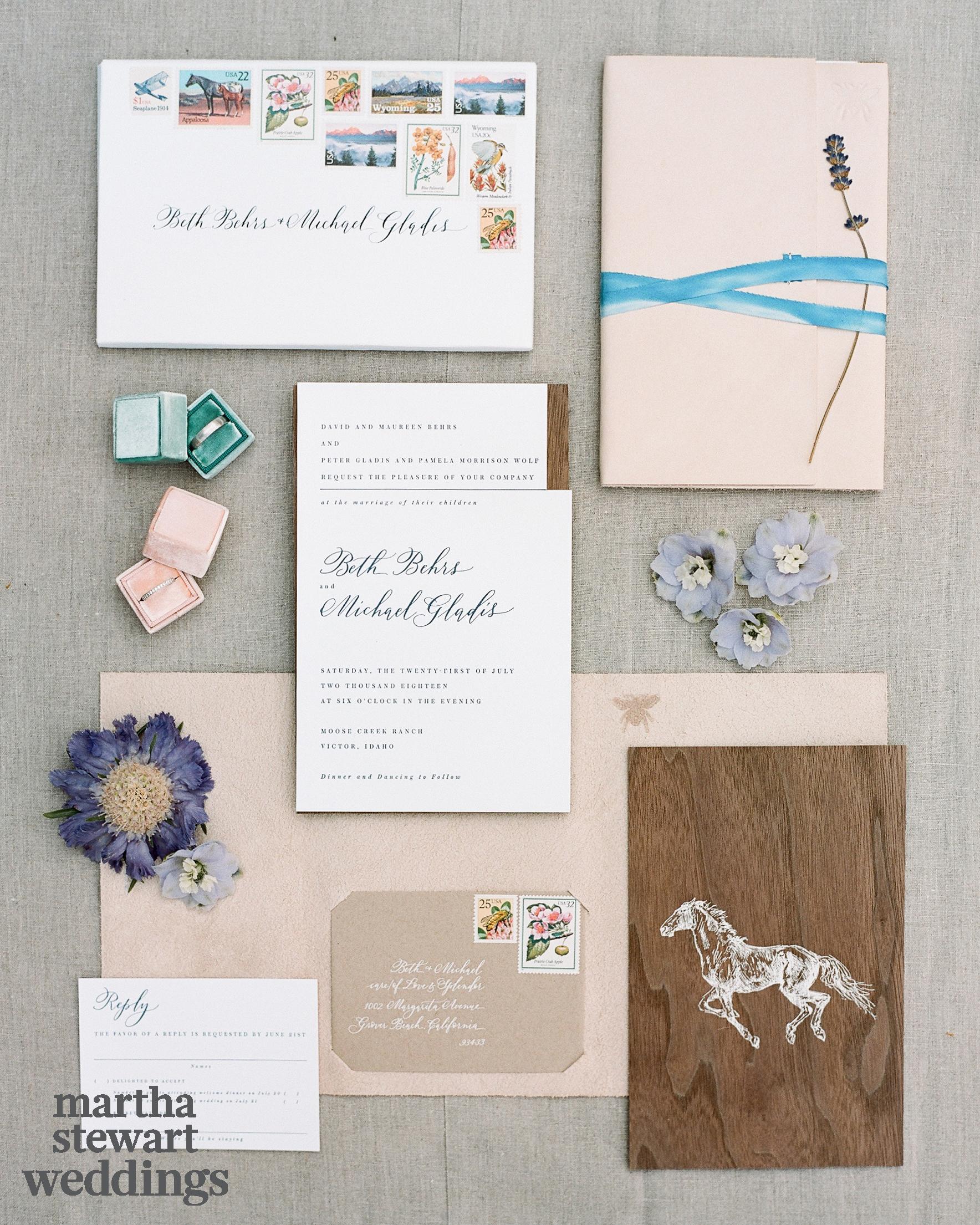 beth behrs michael gladis wedding invitation sylvie gil