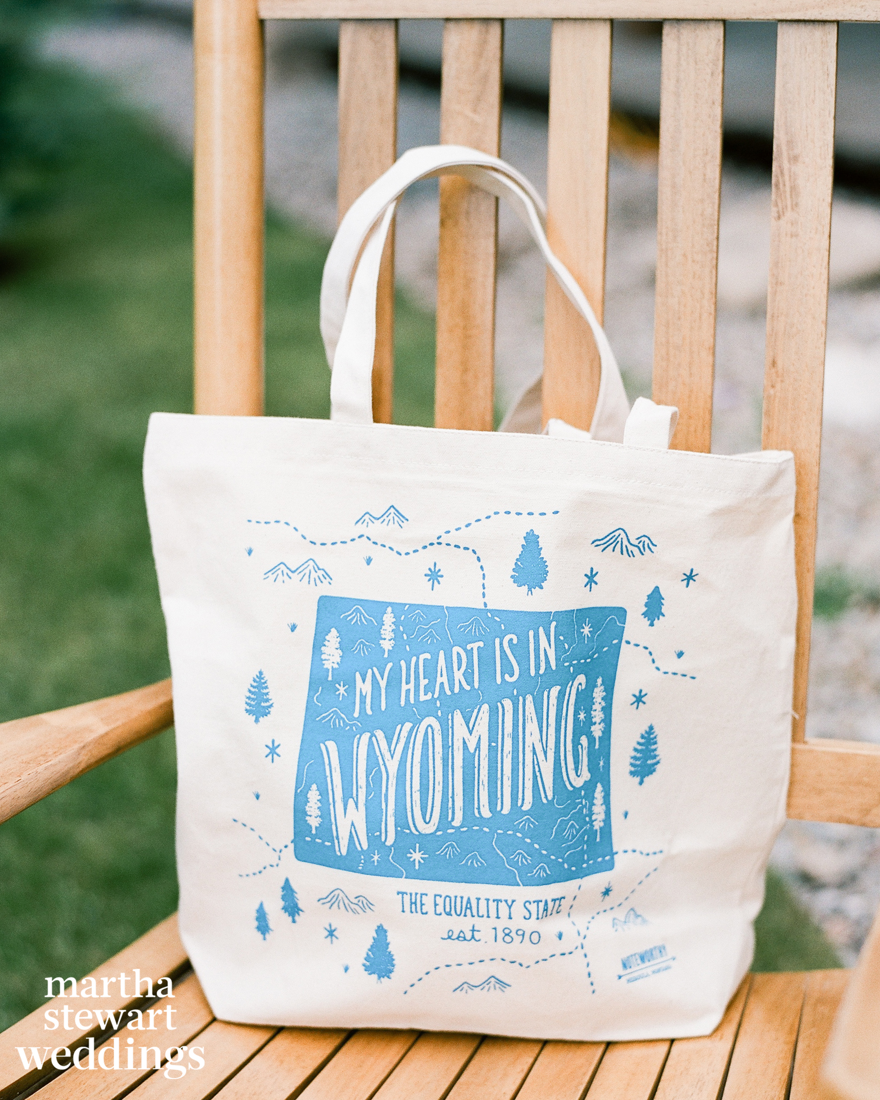 beth behrs michael gladis wedding welcome tote sylvie gil