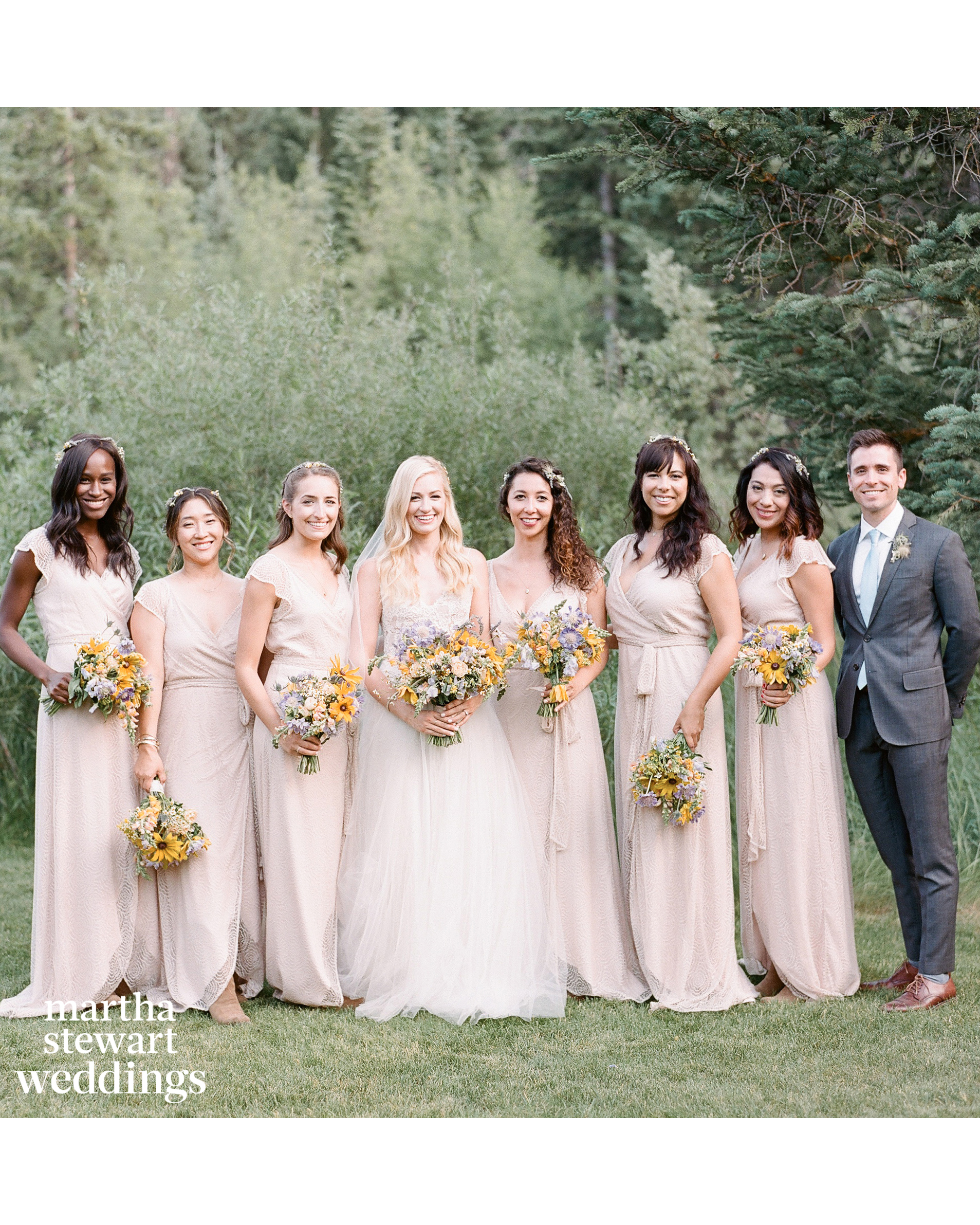 beth behrs michael gladis wedding bridal party sylvie gil