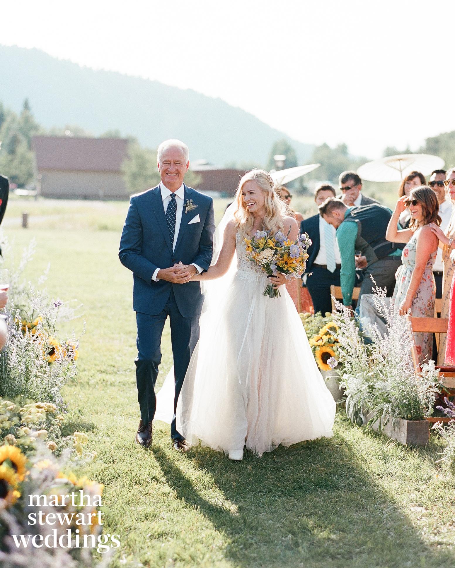 beth behrs michael gladis wedding processional sylvie gil