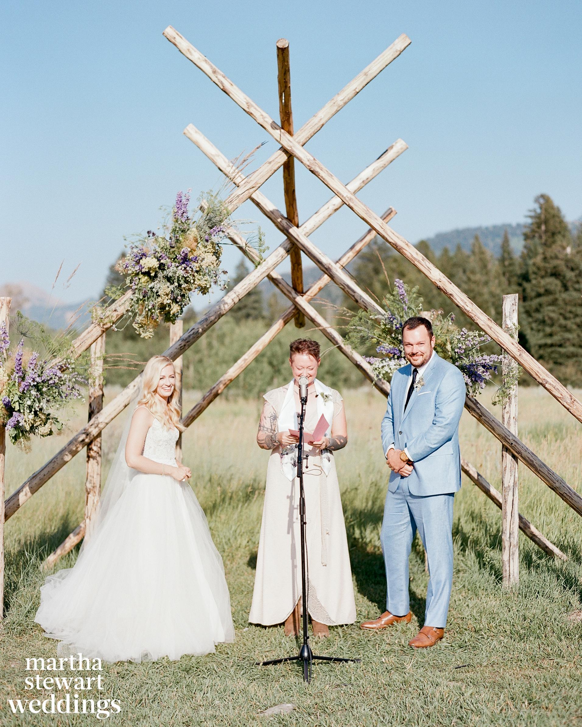 beth behrs michael gladis wedding ceremony sylvie gil