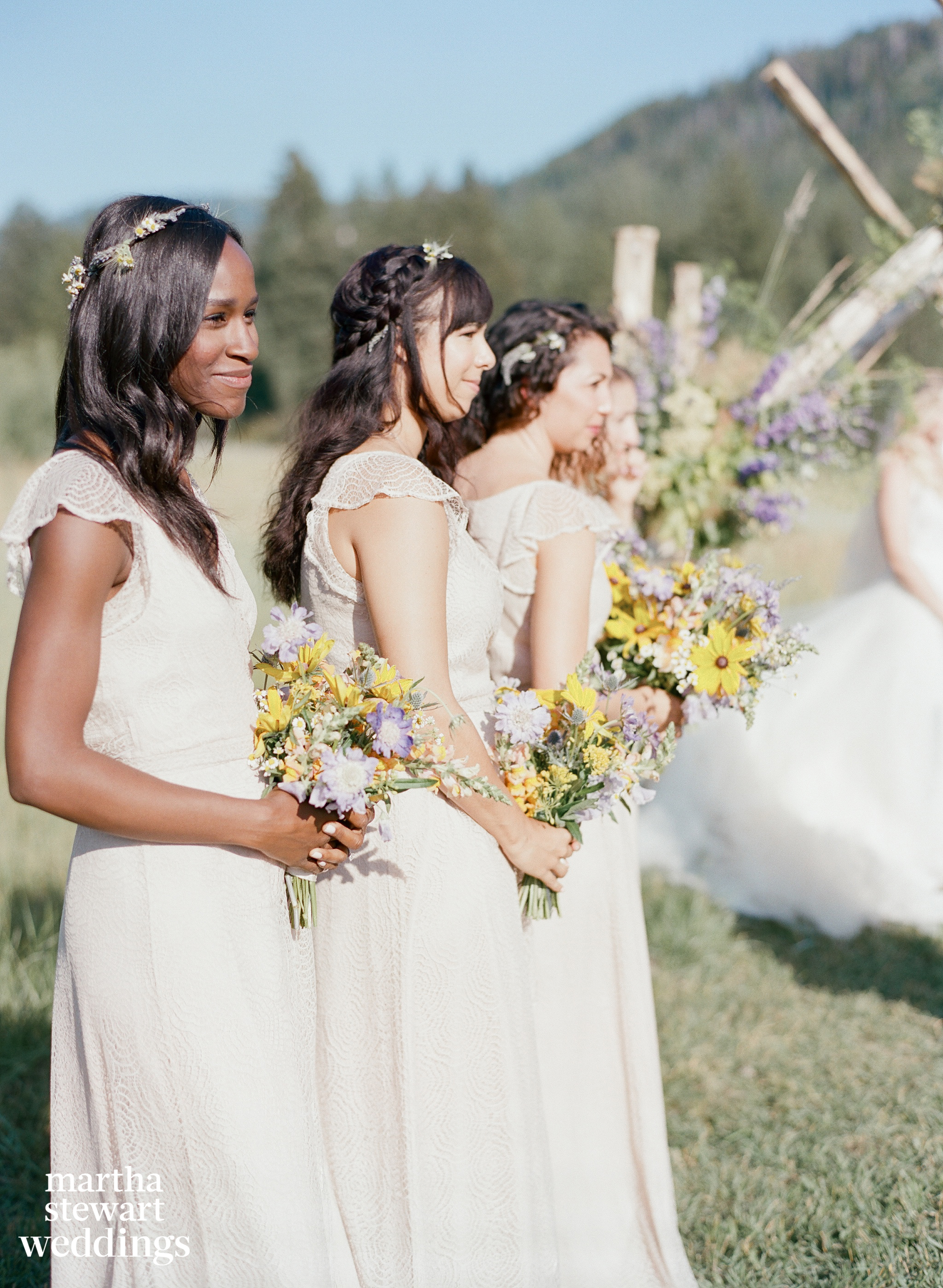 beth behrs michael gladis wedding ceremony bridesmaids sylvie gil