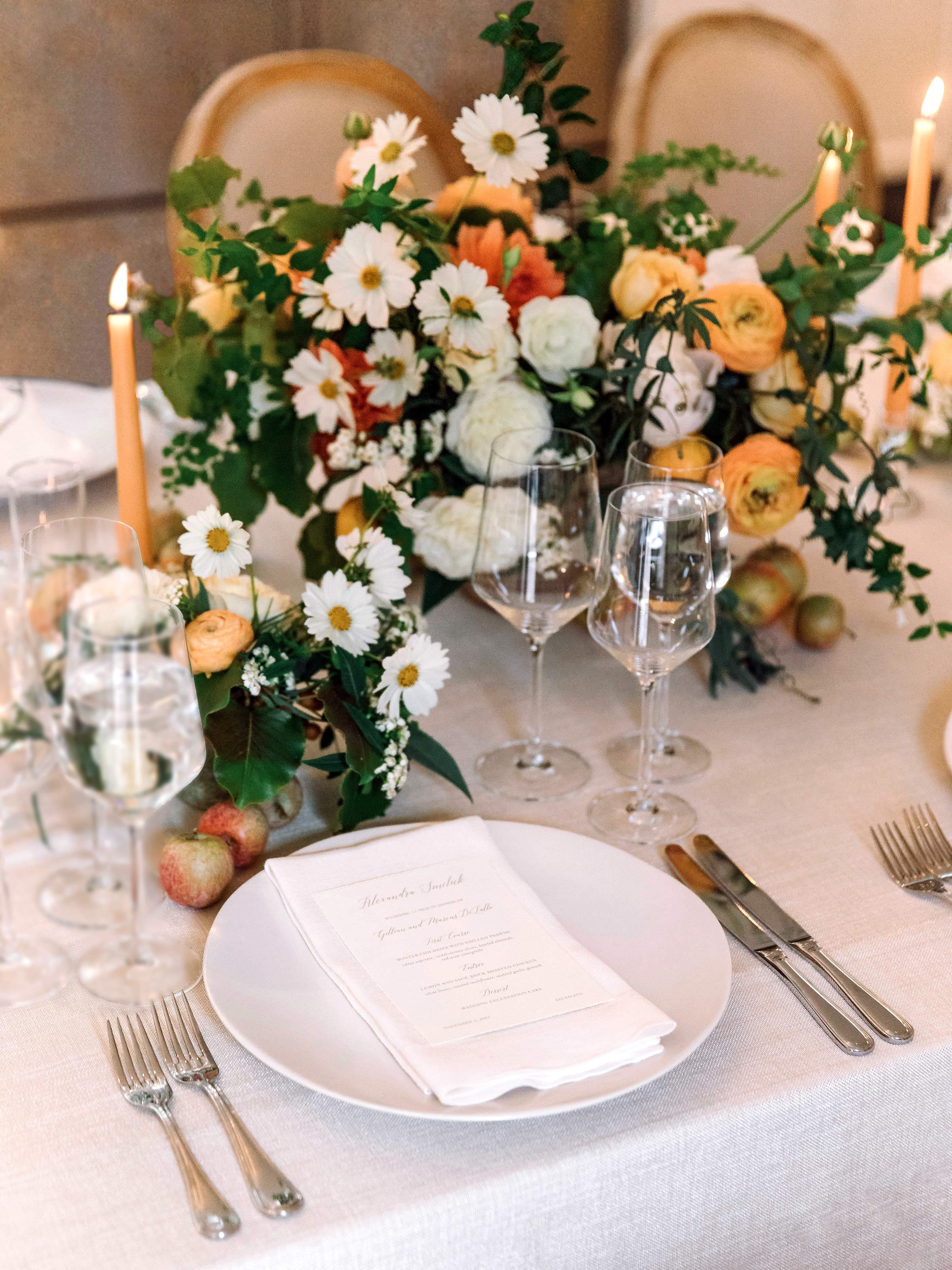 gillian marcus wedding place setting