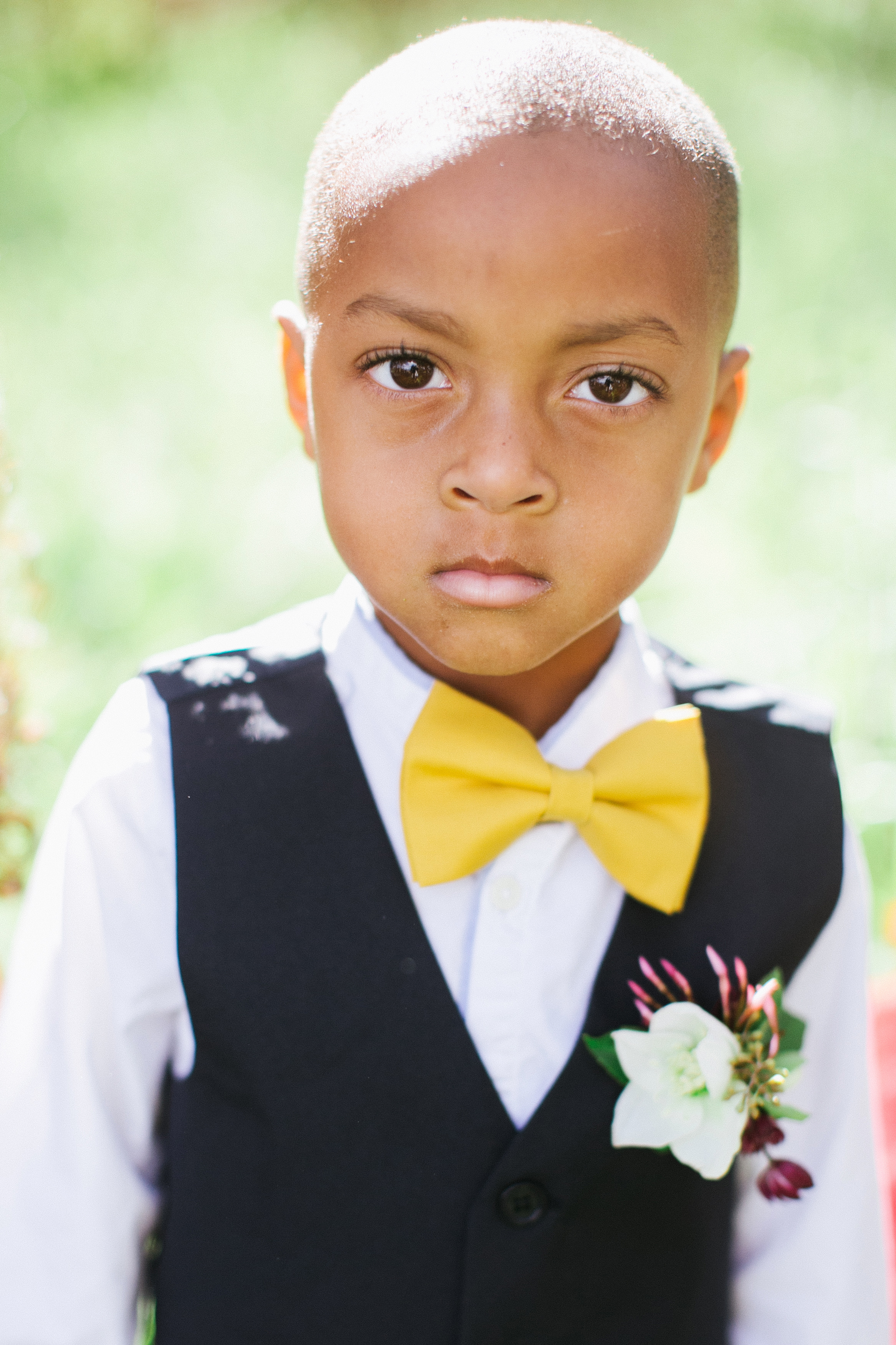 ring bearer with boutonniere