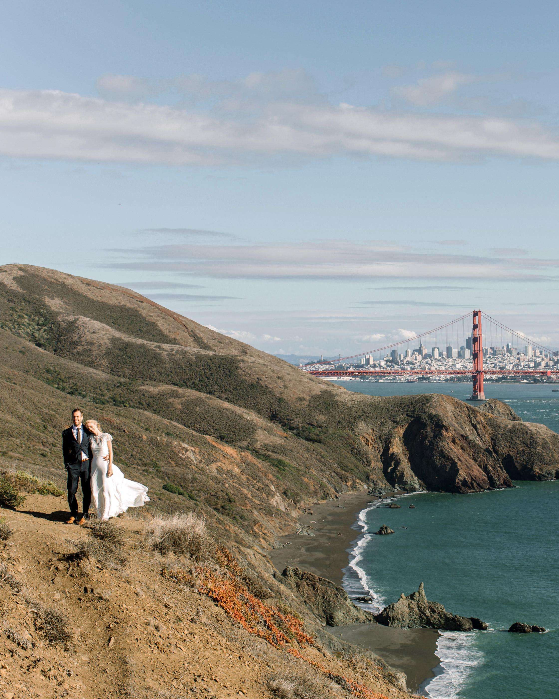 gillian marcus wedding couple cliff