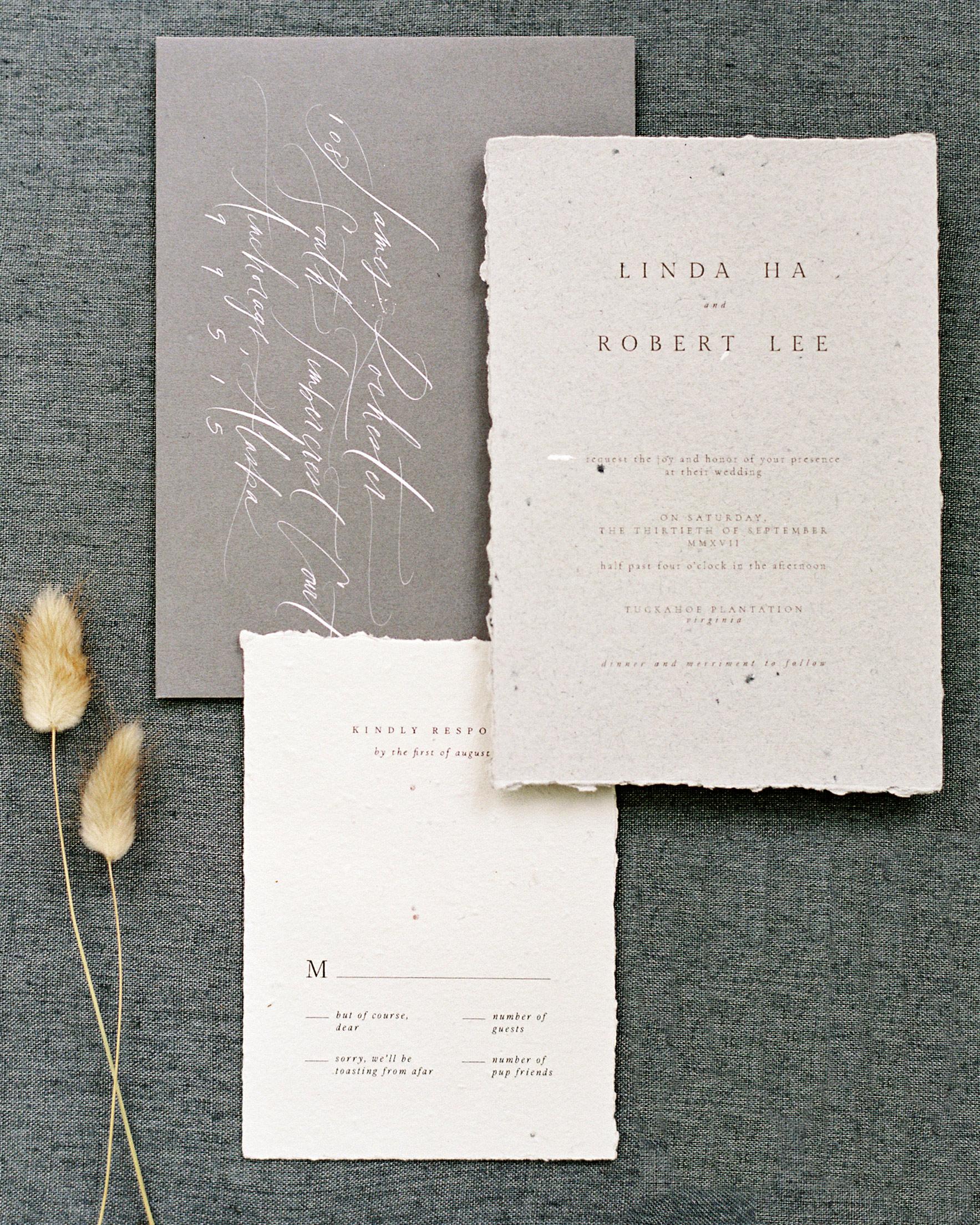 linda robert wedding invitation