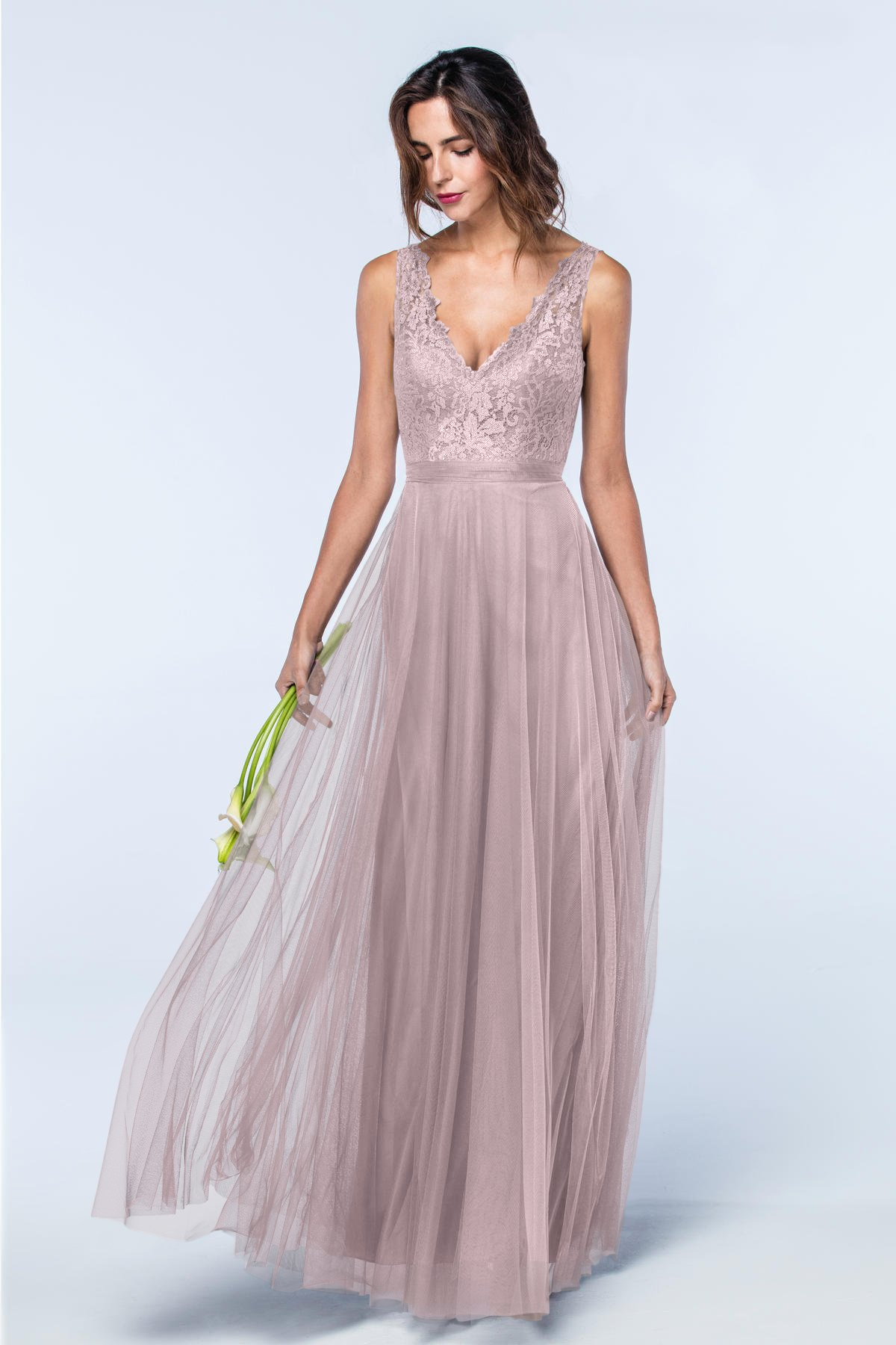 "Lace Bridesmaids Dresses, Watters ""Desiree"" Dress"