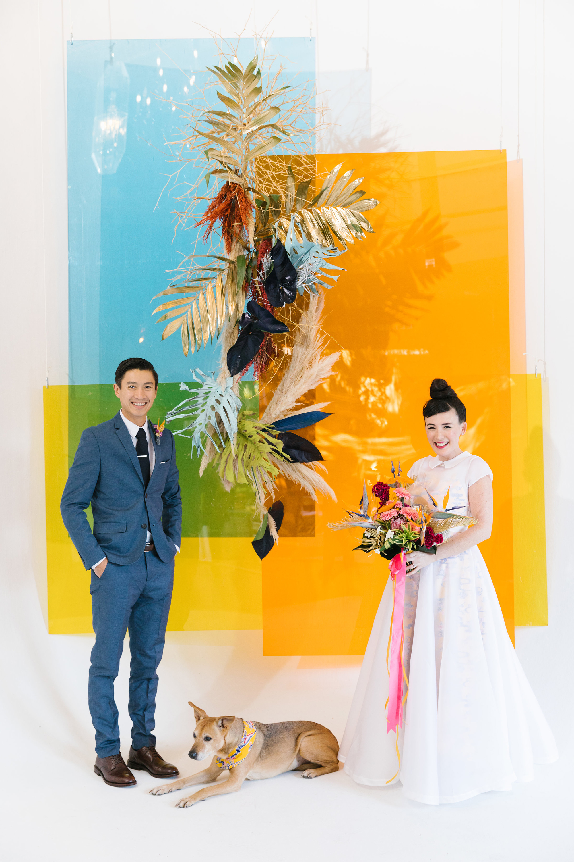 There Was No Shortage of Color at This Cool, Modern Wedding in Los Angeles