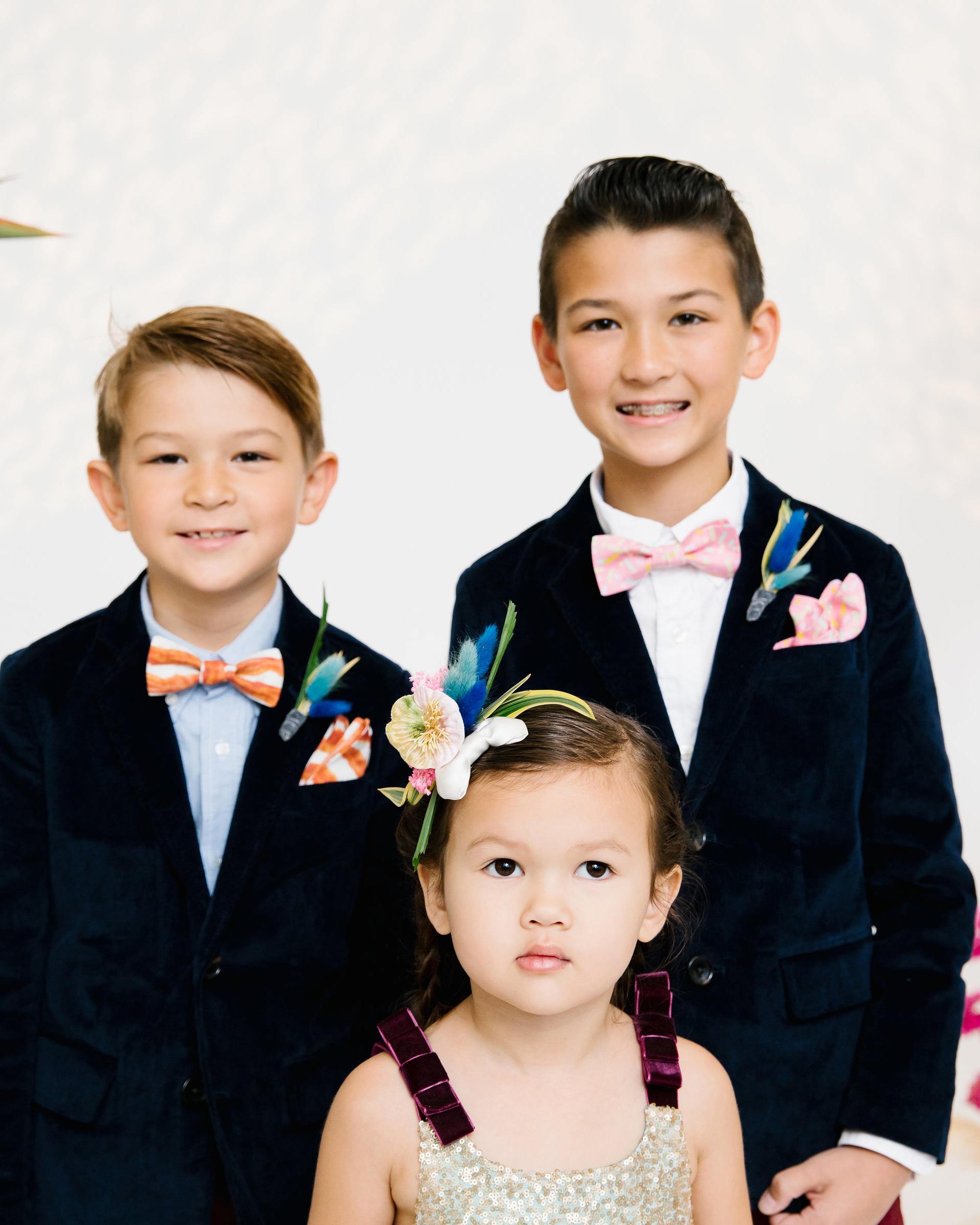 tashina huy colorful wedding kids