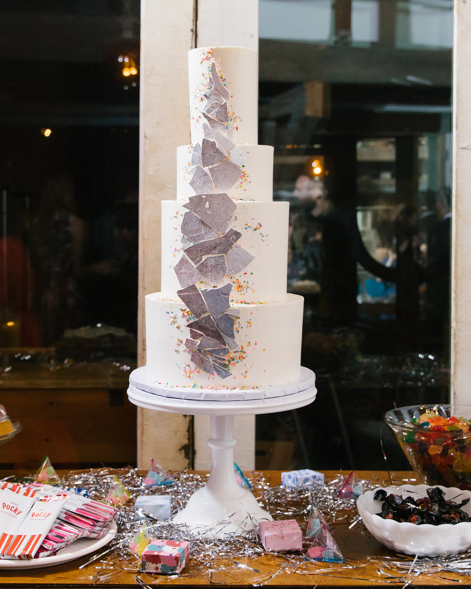 tashina huy colorful wedding cake