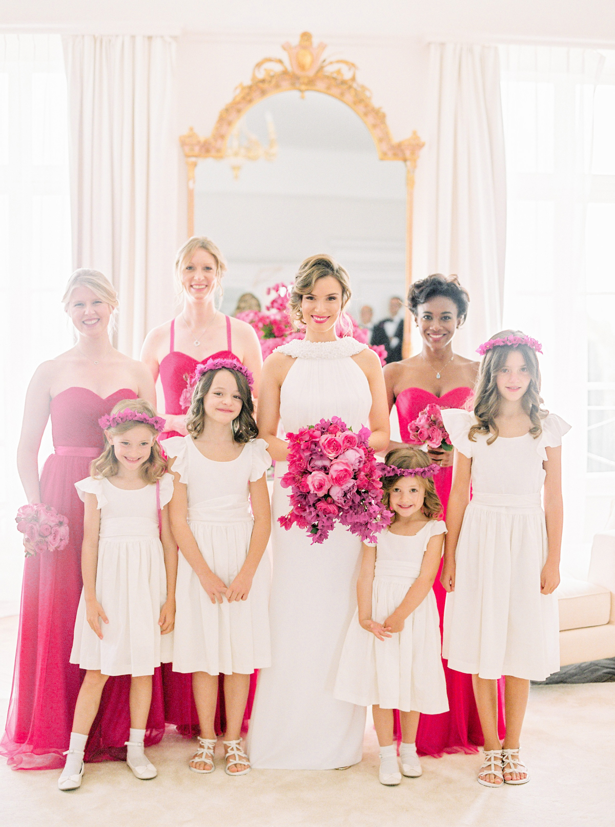 stephanie nikolaus wedding bridesmaids and flower girls