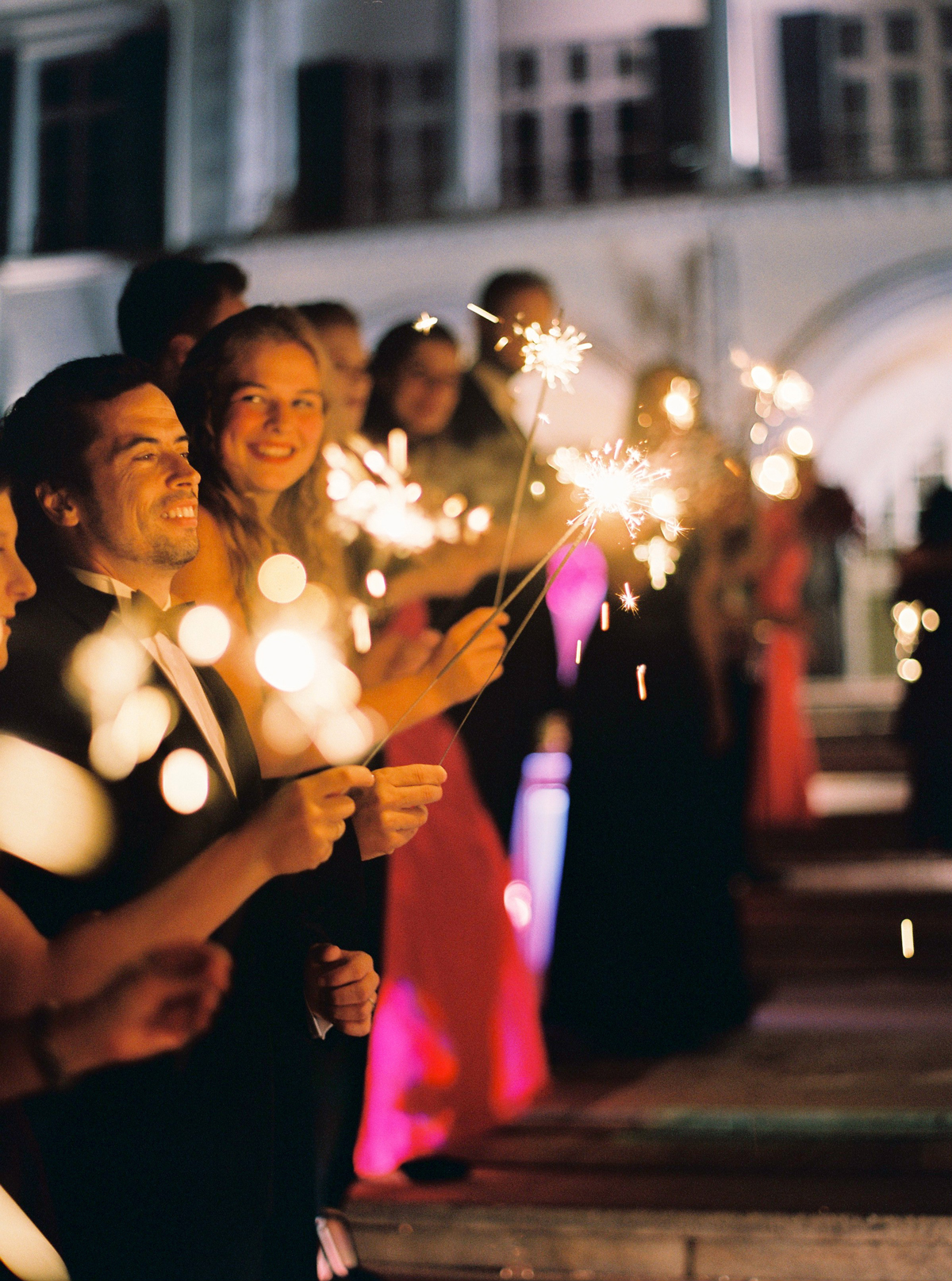 stephanie nikolaus wedding sparklers