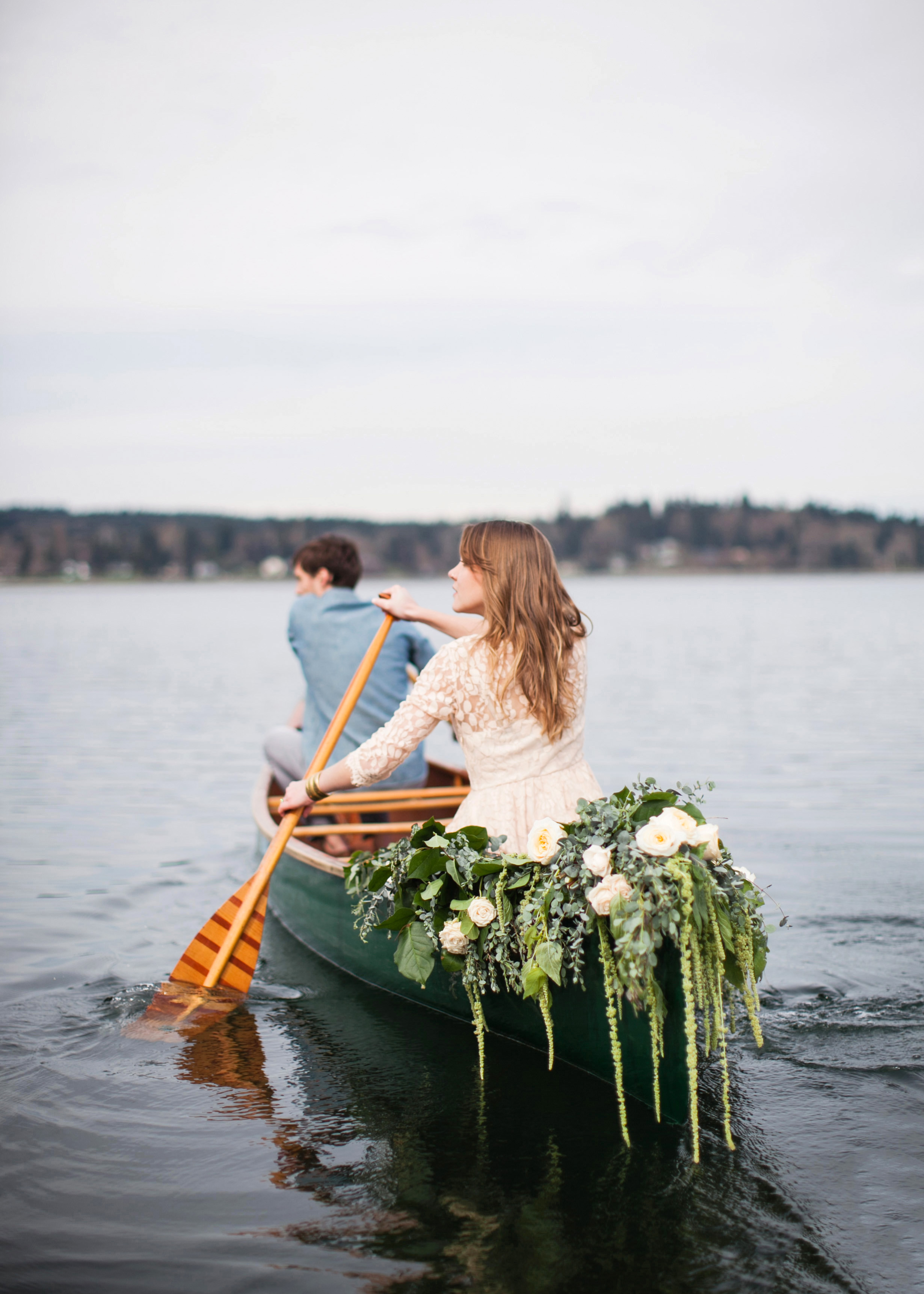 wedding exits canoe marissa maharaj