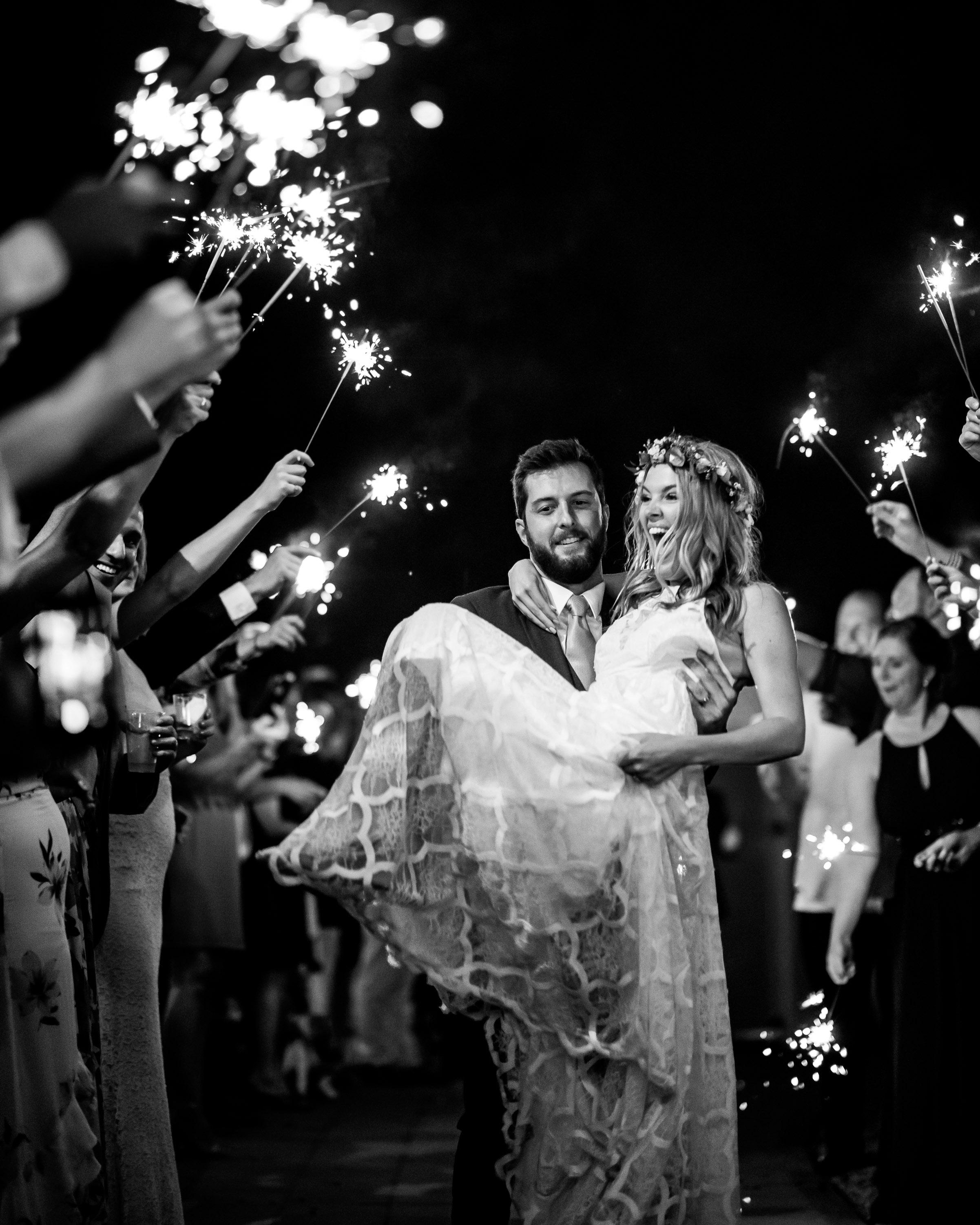 wedding exits sparklers