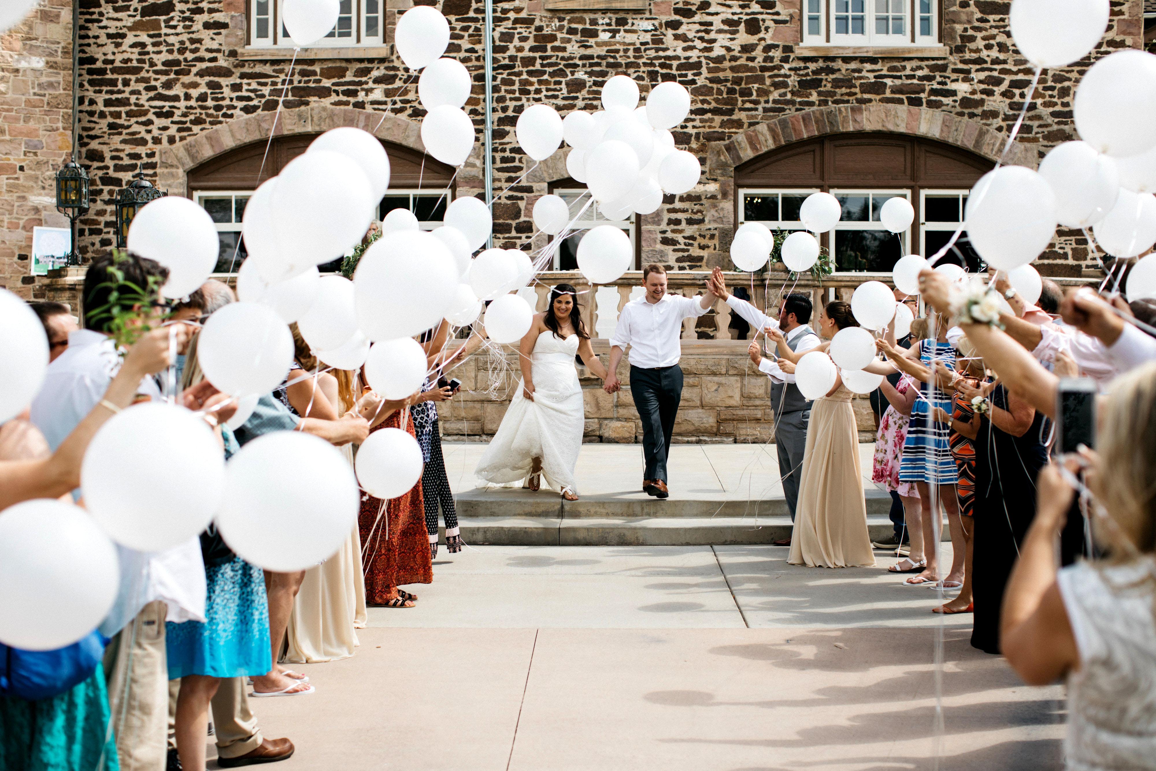 wedding exits balloons sharee davenport