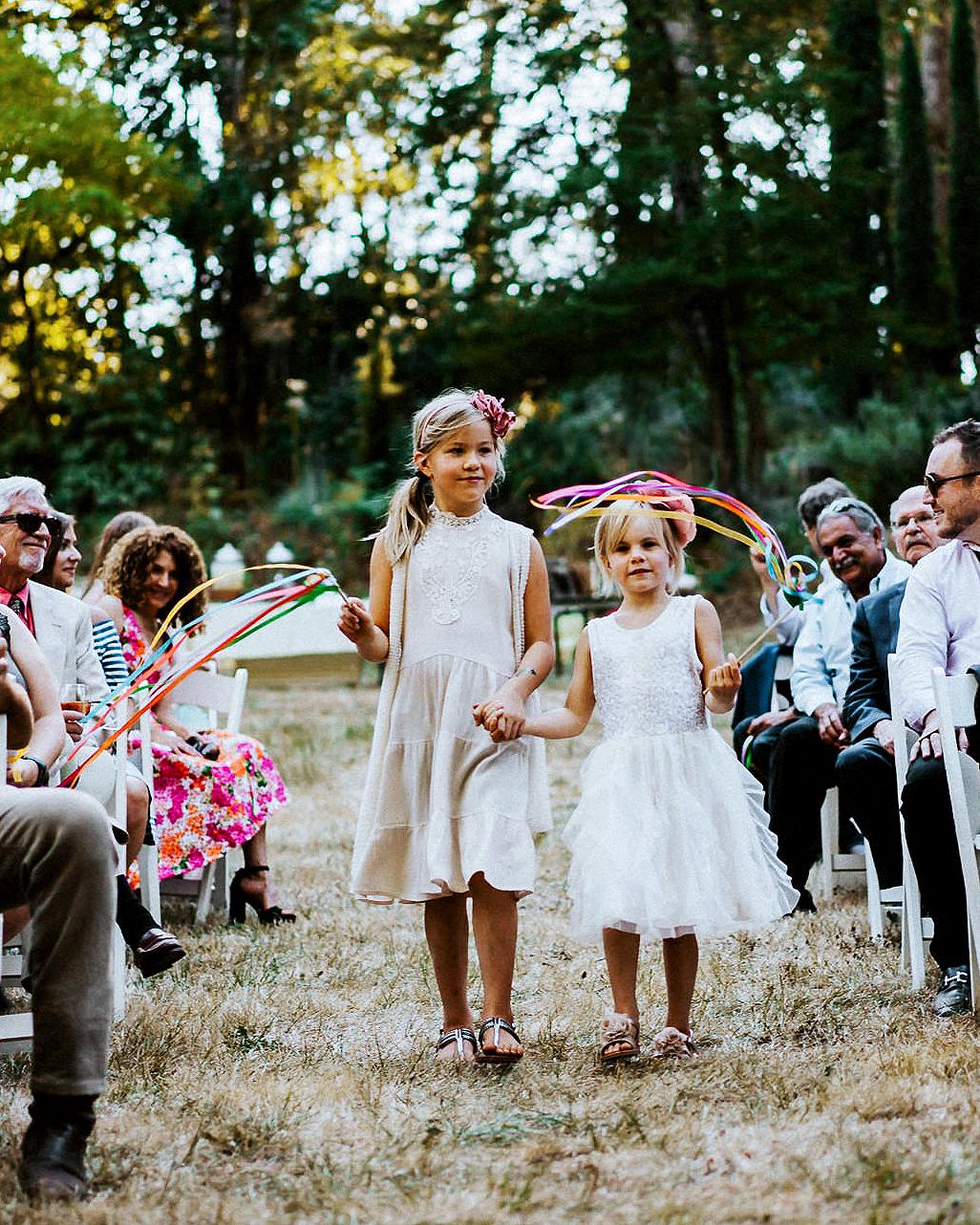 amy nick wedding flower girls