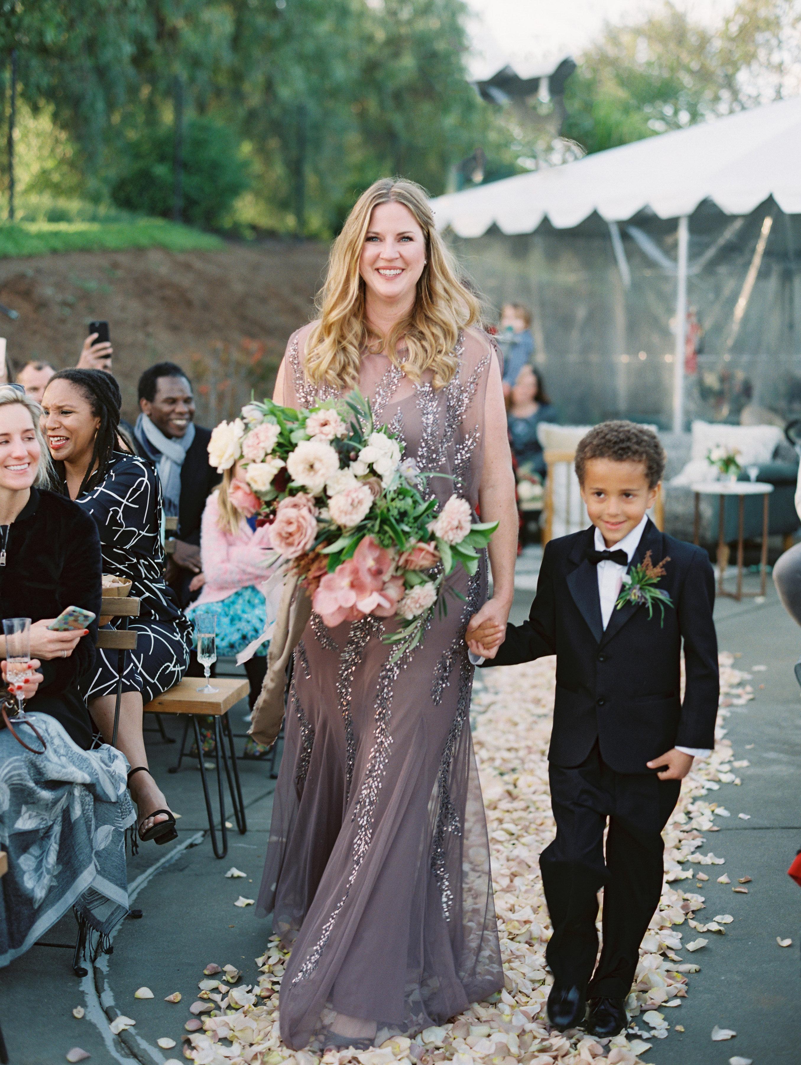 surprise wedding processional