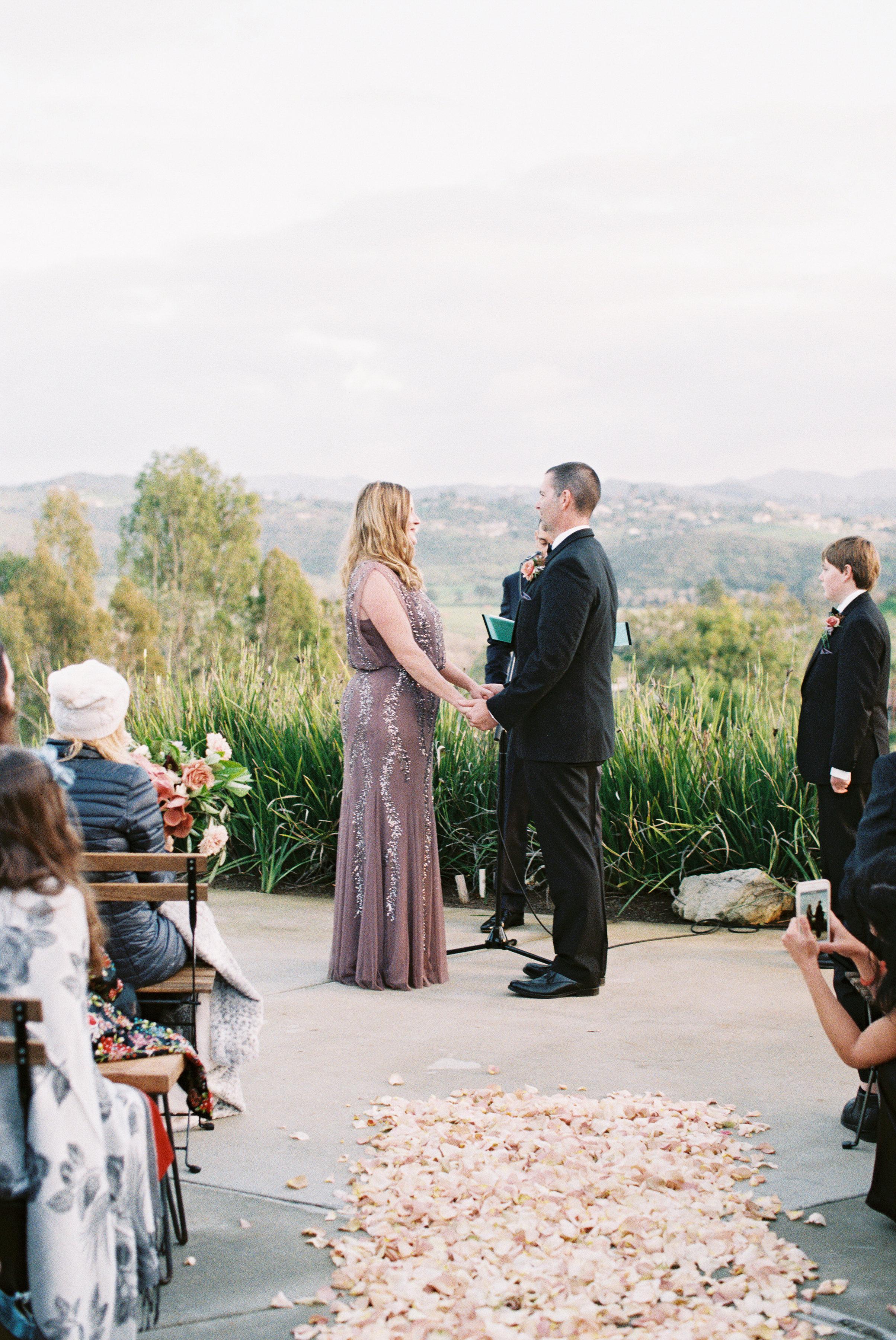 surprise wedding ceremony valley overlook