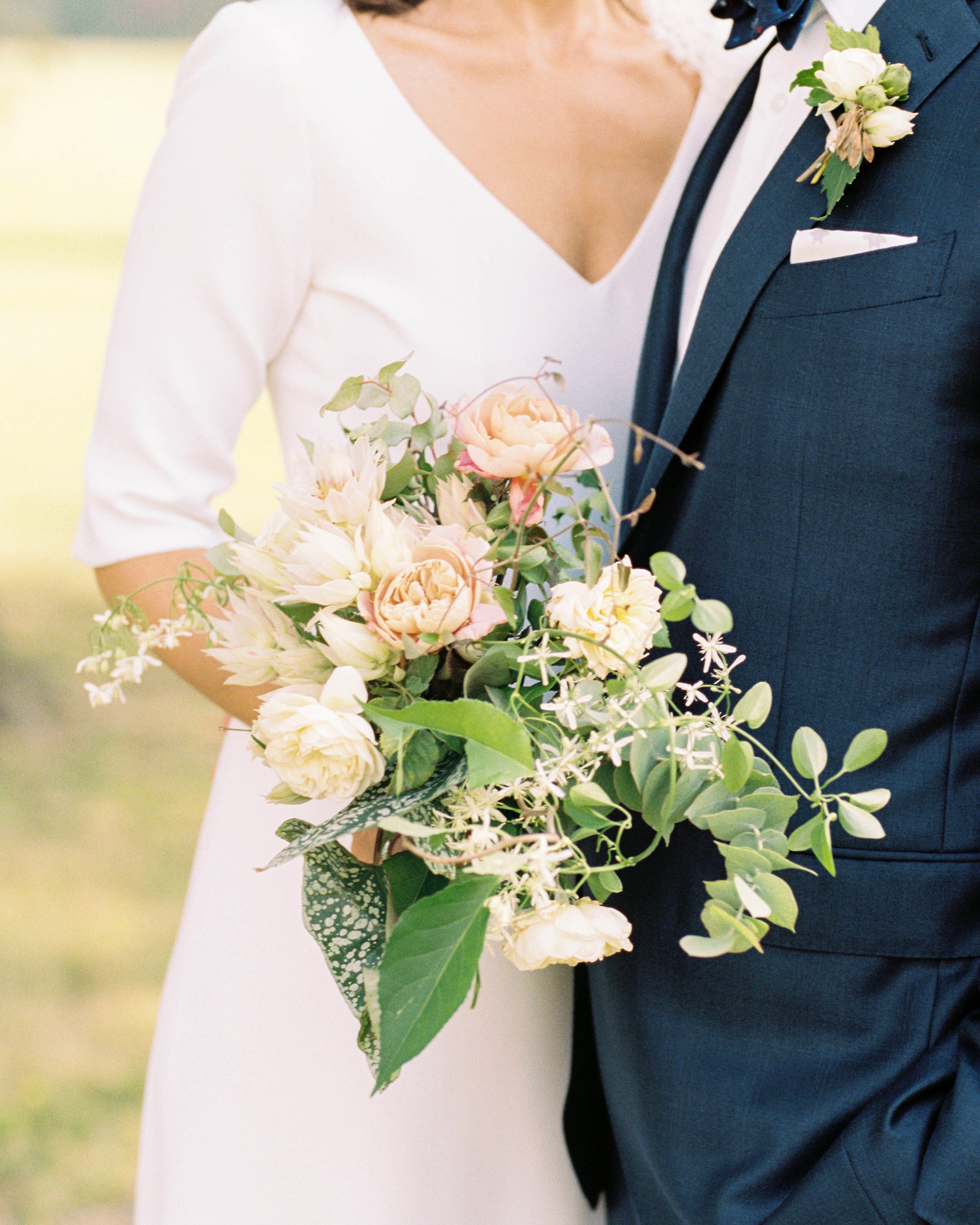 kayla michael wedding bouquet
