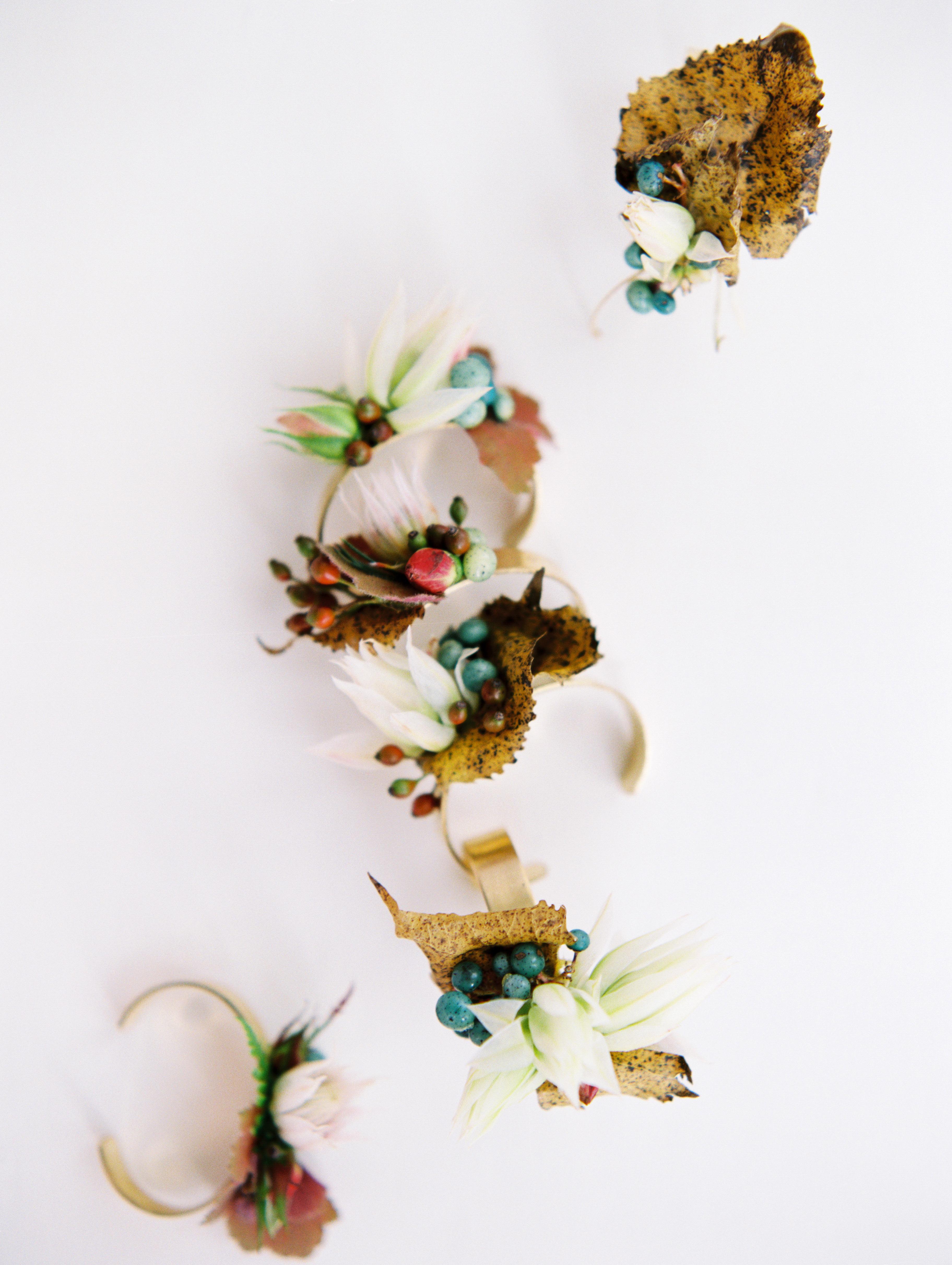 kayla michael wedding flower cuff