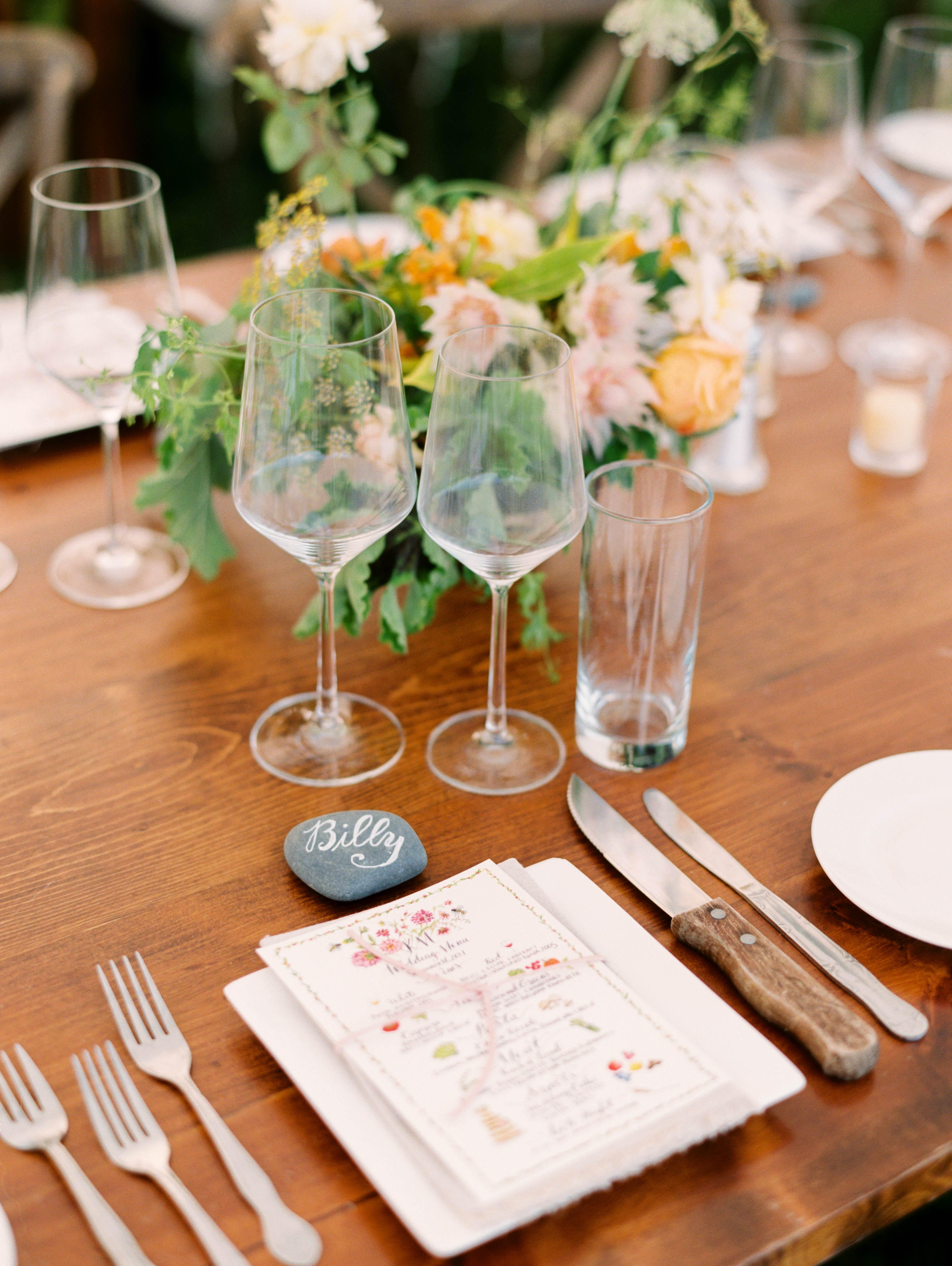 kayla michael wedding place setting
