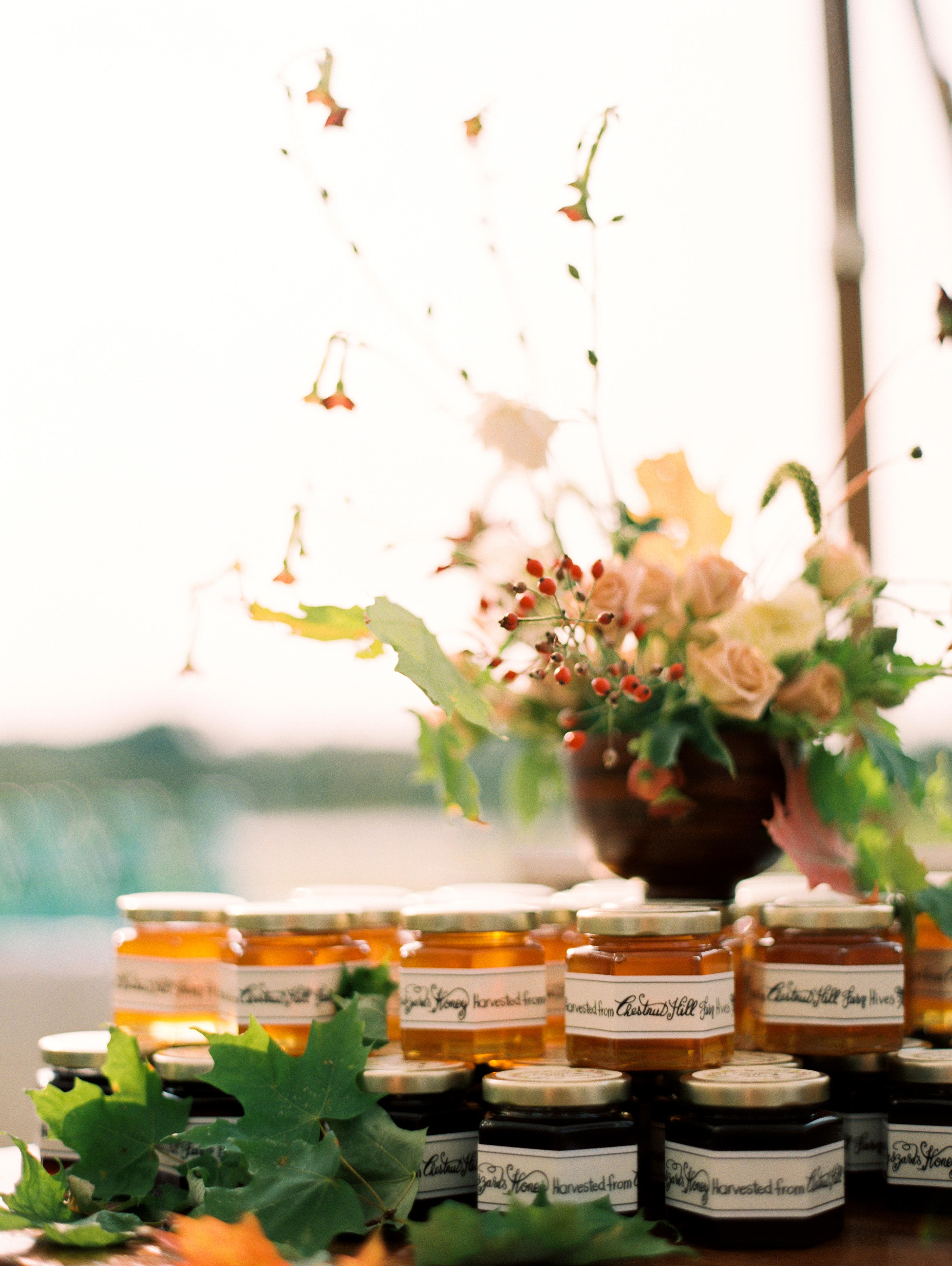 kayla michael wedding honey favors