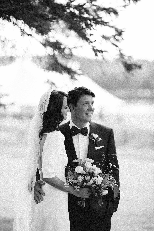 kayla michael wedding couple embrace