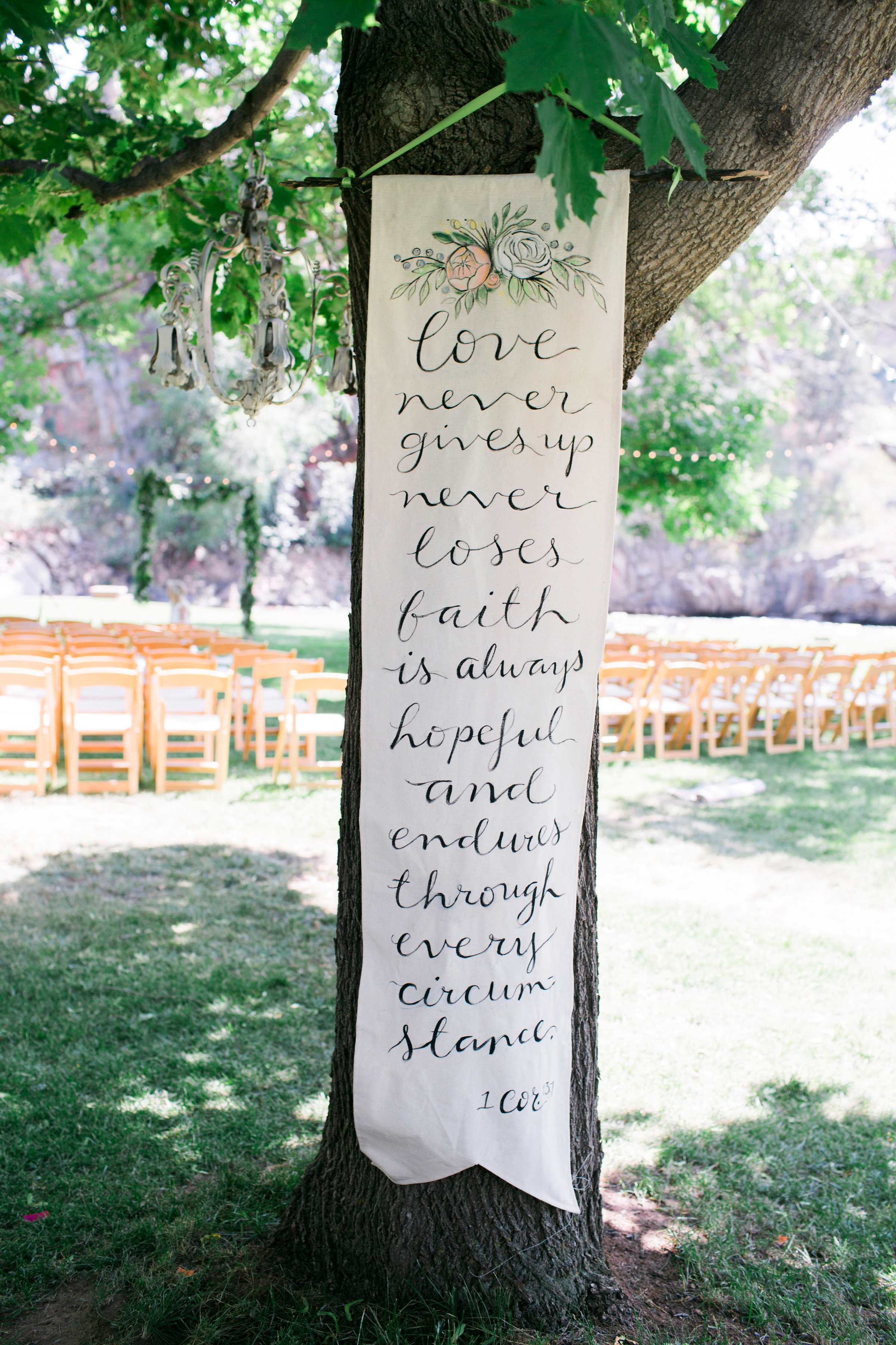 banner decor favortie quote tree scroll