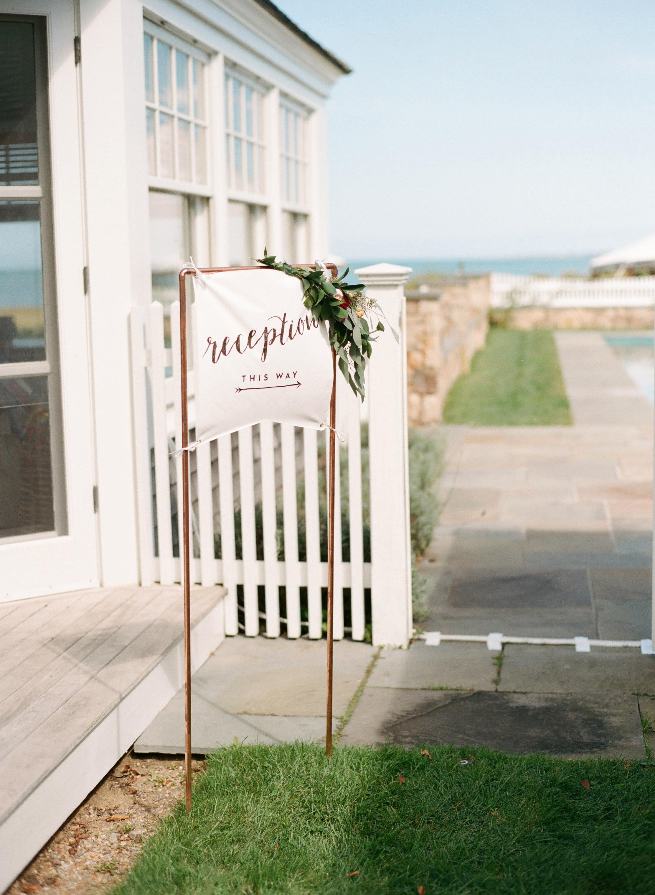 banner decor outdoor reception sign