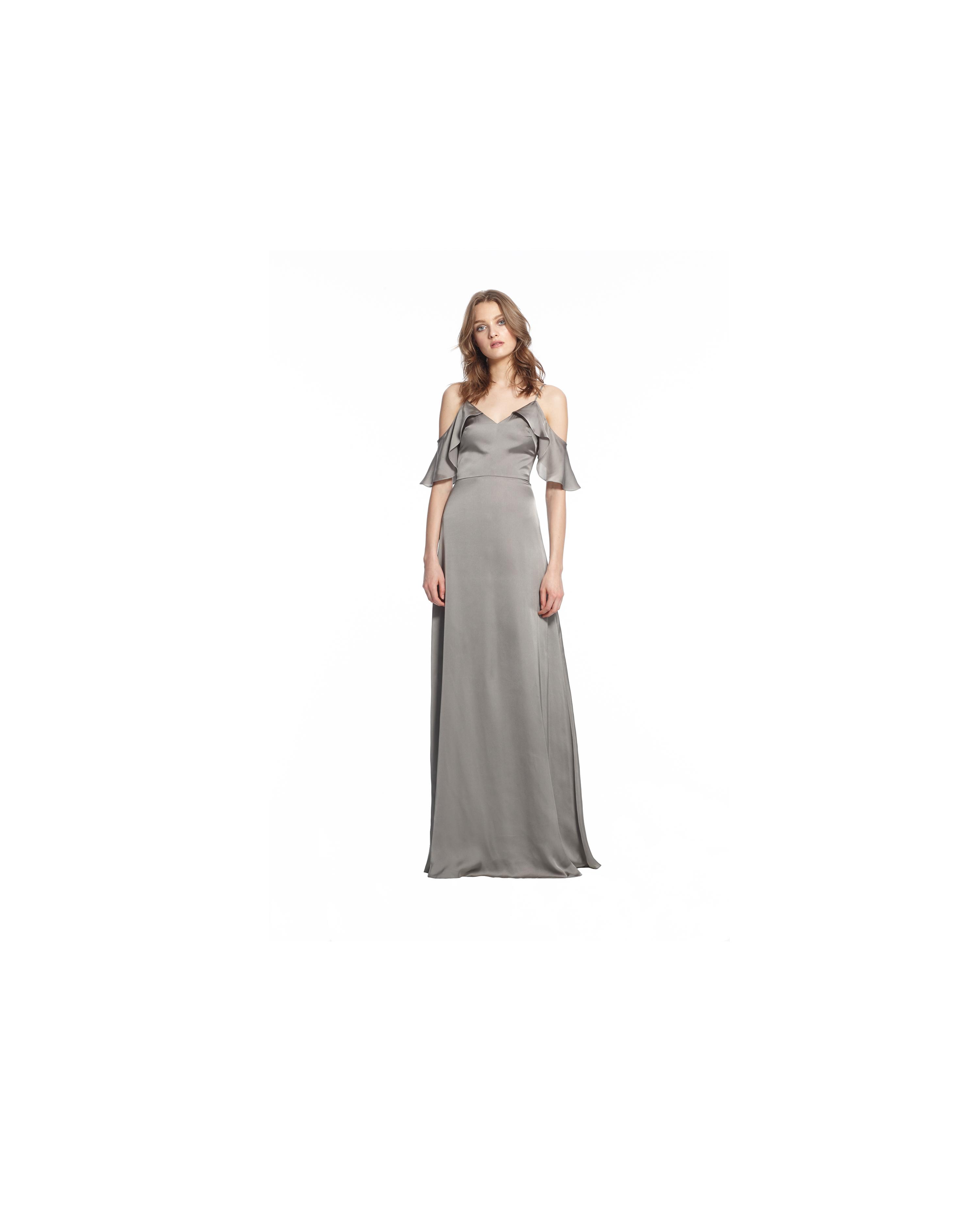 grey silver bridesmaid dresses monique lhuillier isabel dress