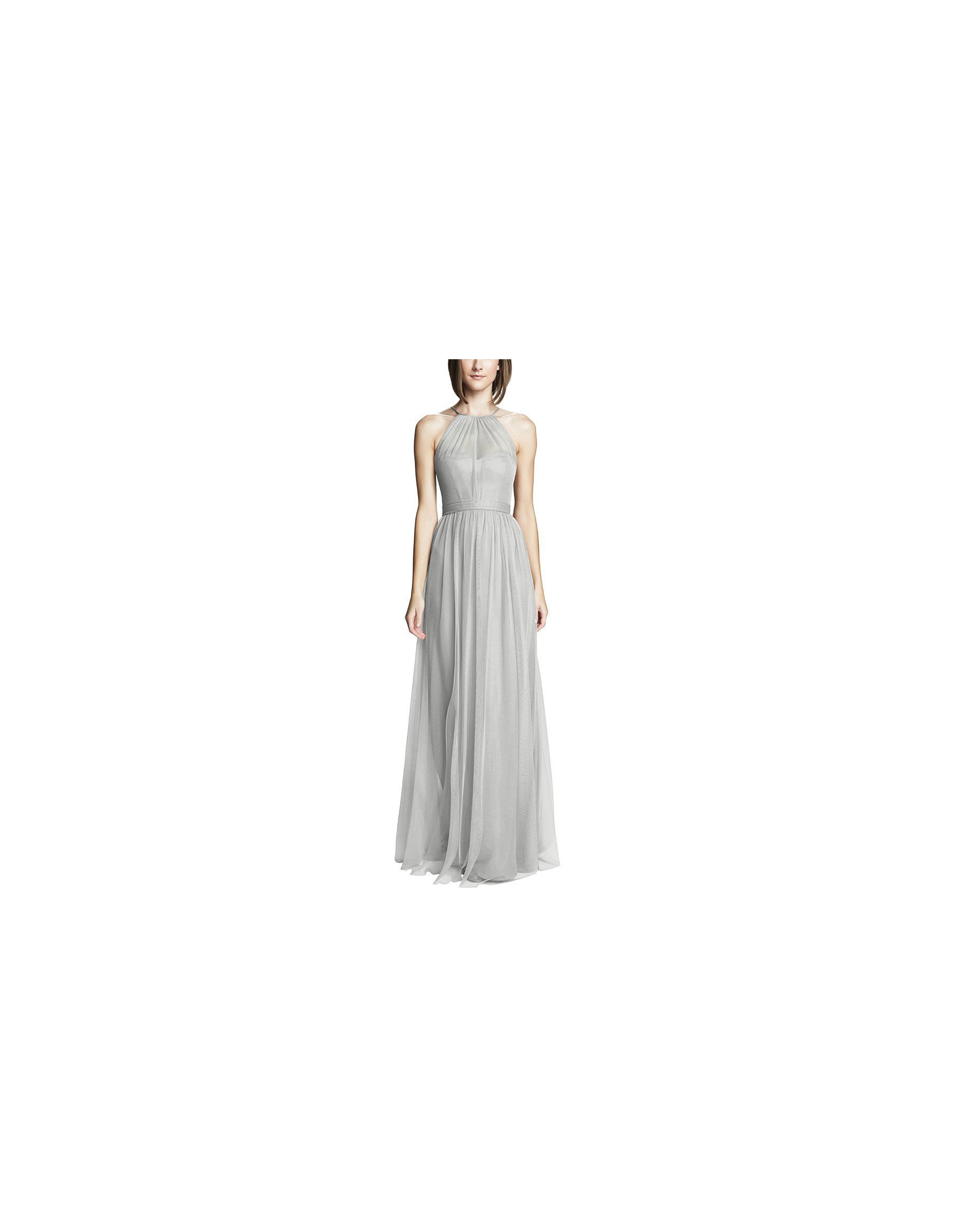 grey silver bridesmaid dresses amsale aliki dress