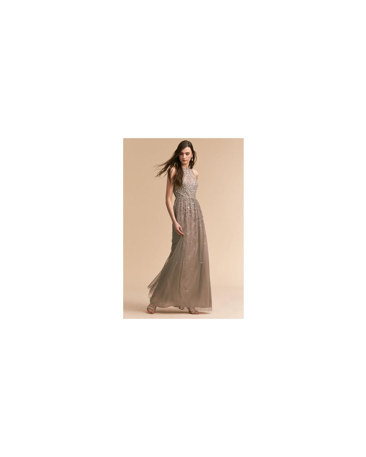 grey silver bridesmaid dresses bhldn ginny