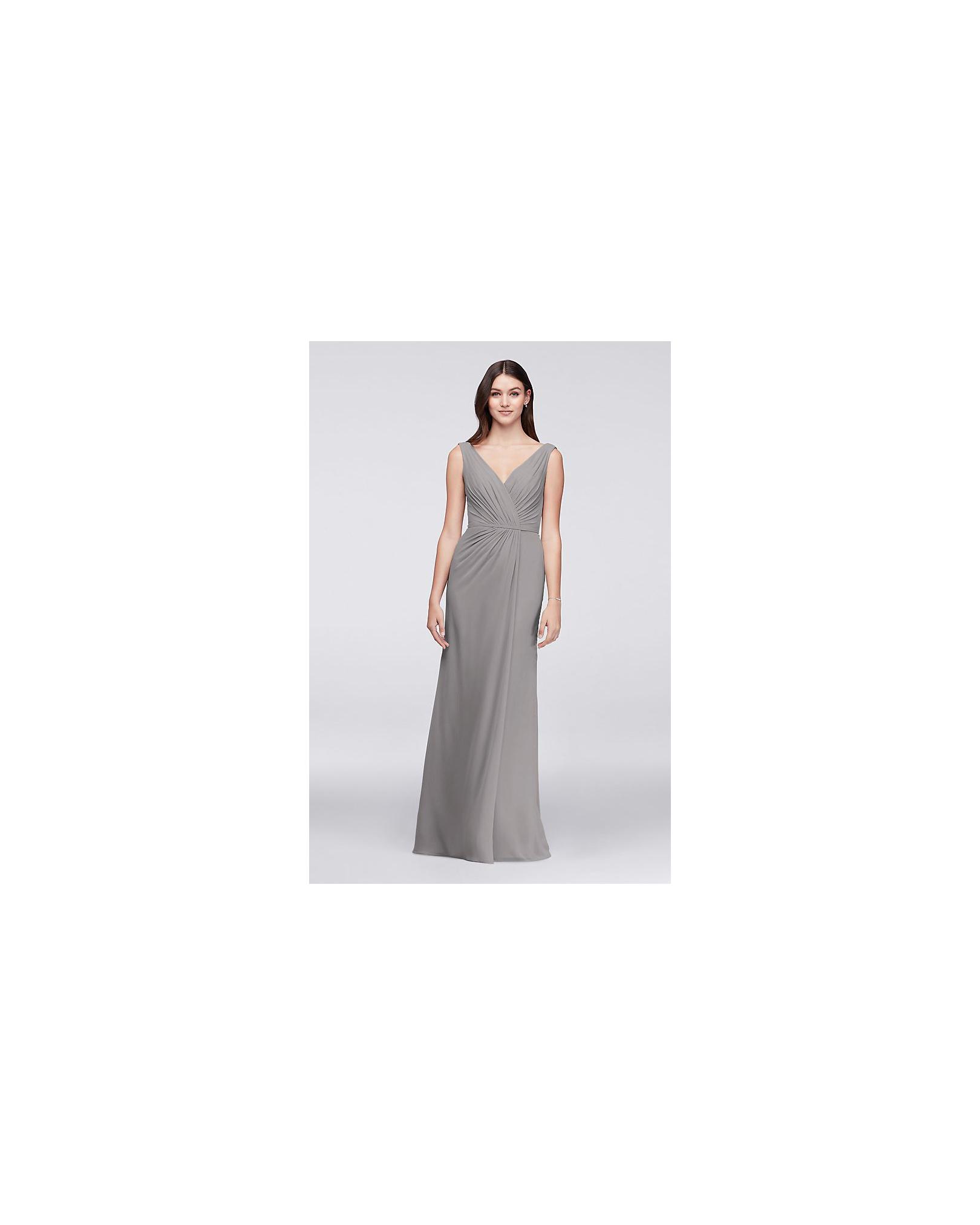 grey silver bridesmaid dresses davids bridal faux pleated