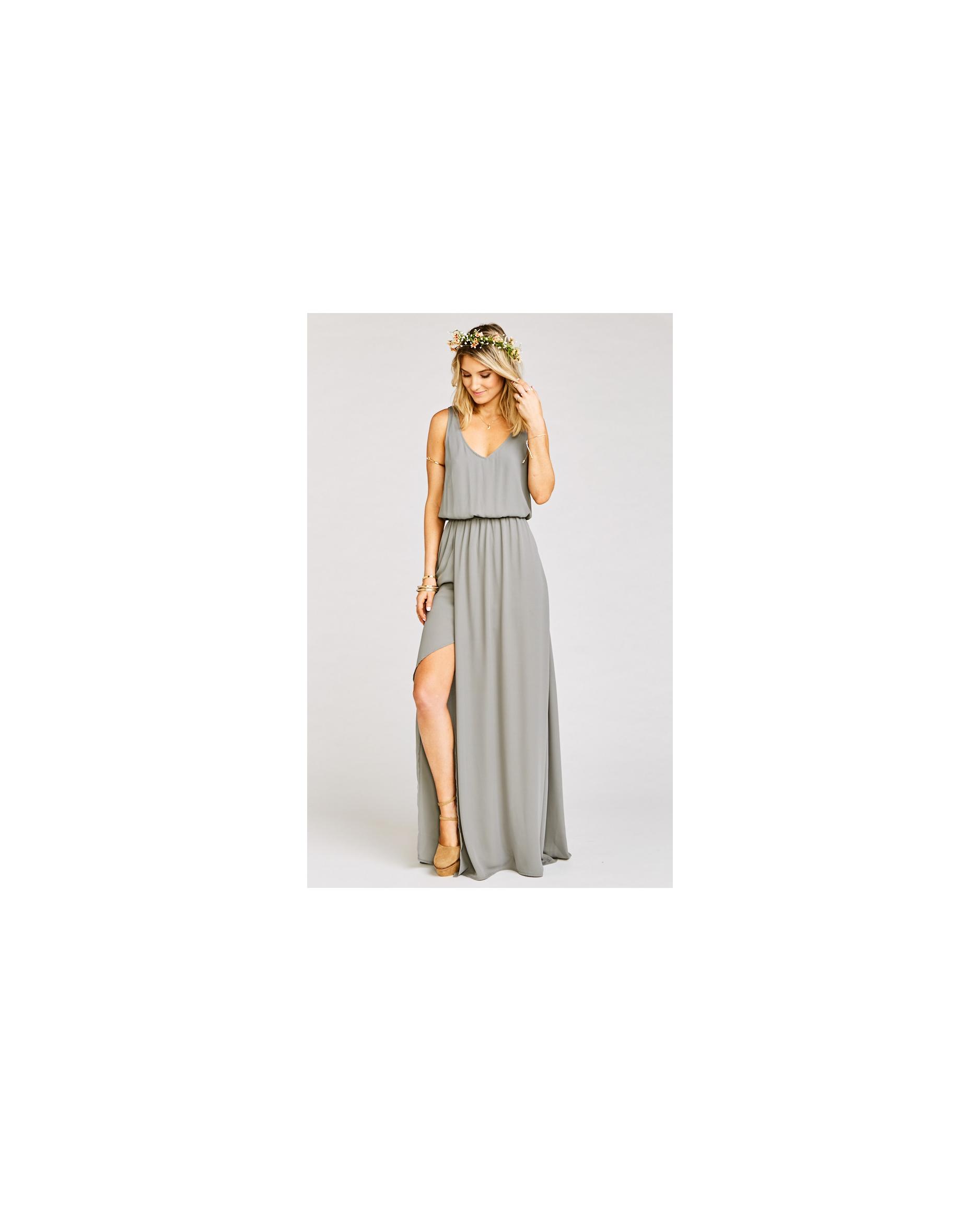 grey silver bridesmaid dresses show me your mumu kendall dress