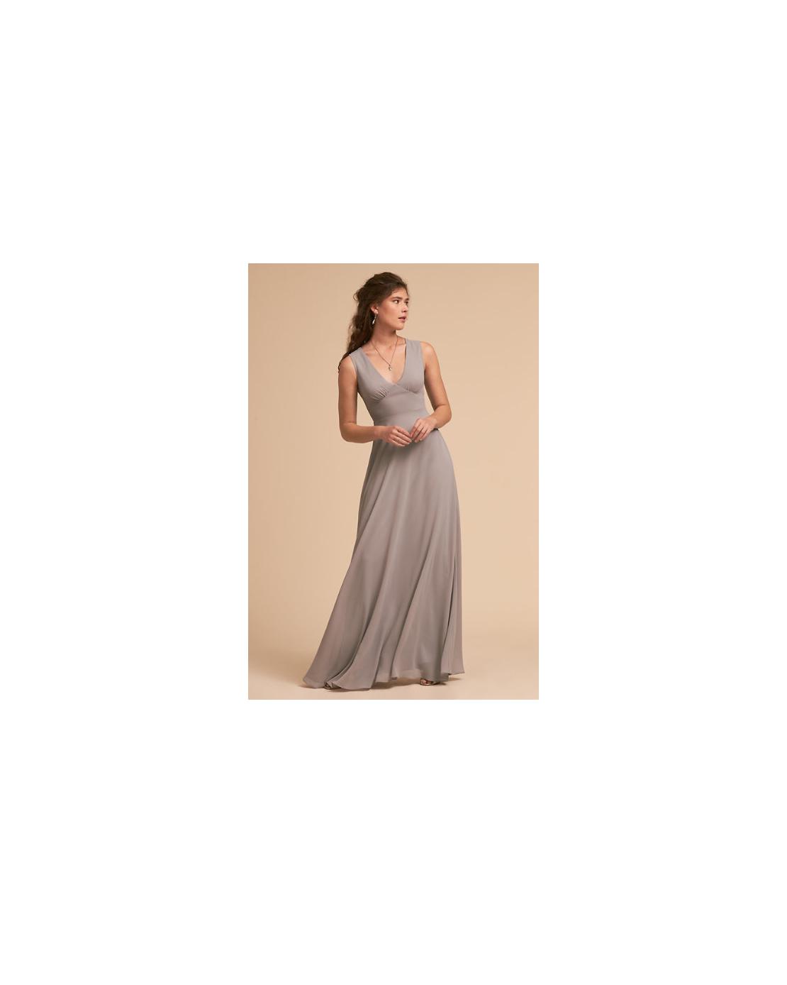 grey silver bridesmaid dresses bhldn capulet
