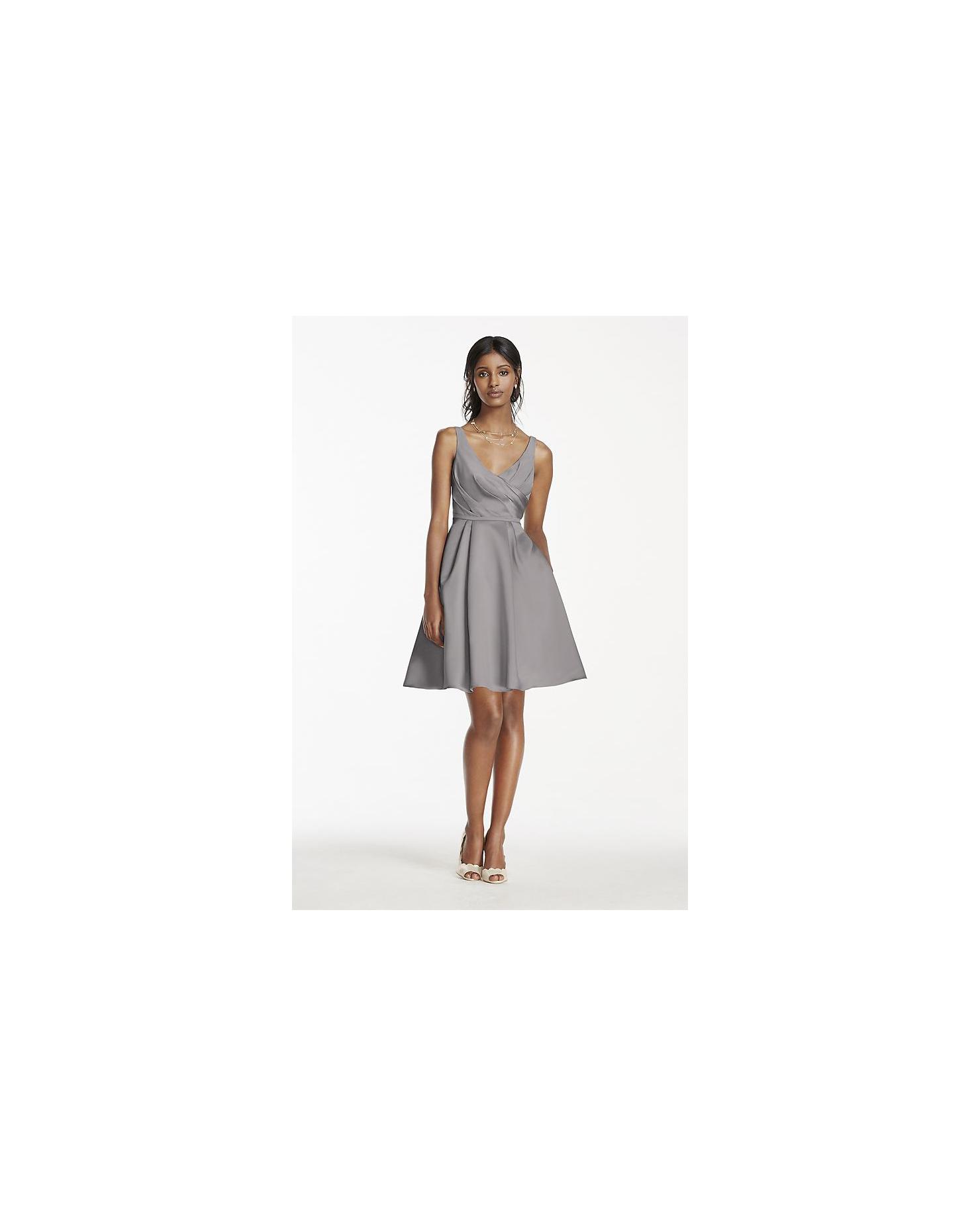 grey silver bridesmaid dresses davids bridal satin tank