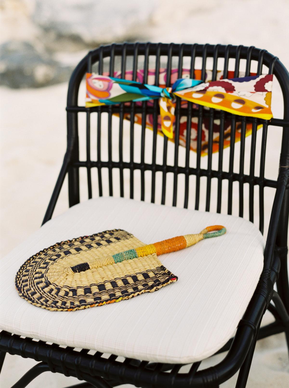 turks and caicos shoot erich mcvey scarf fan chair