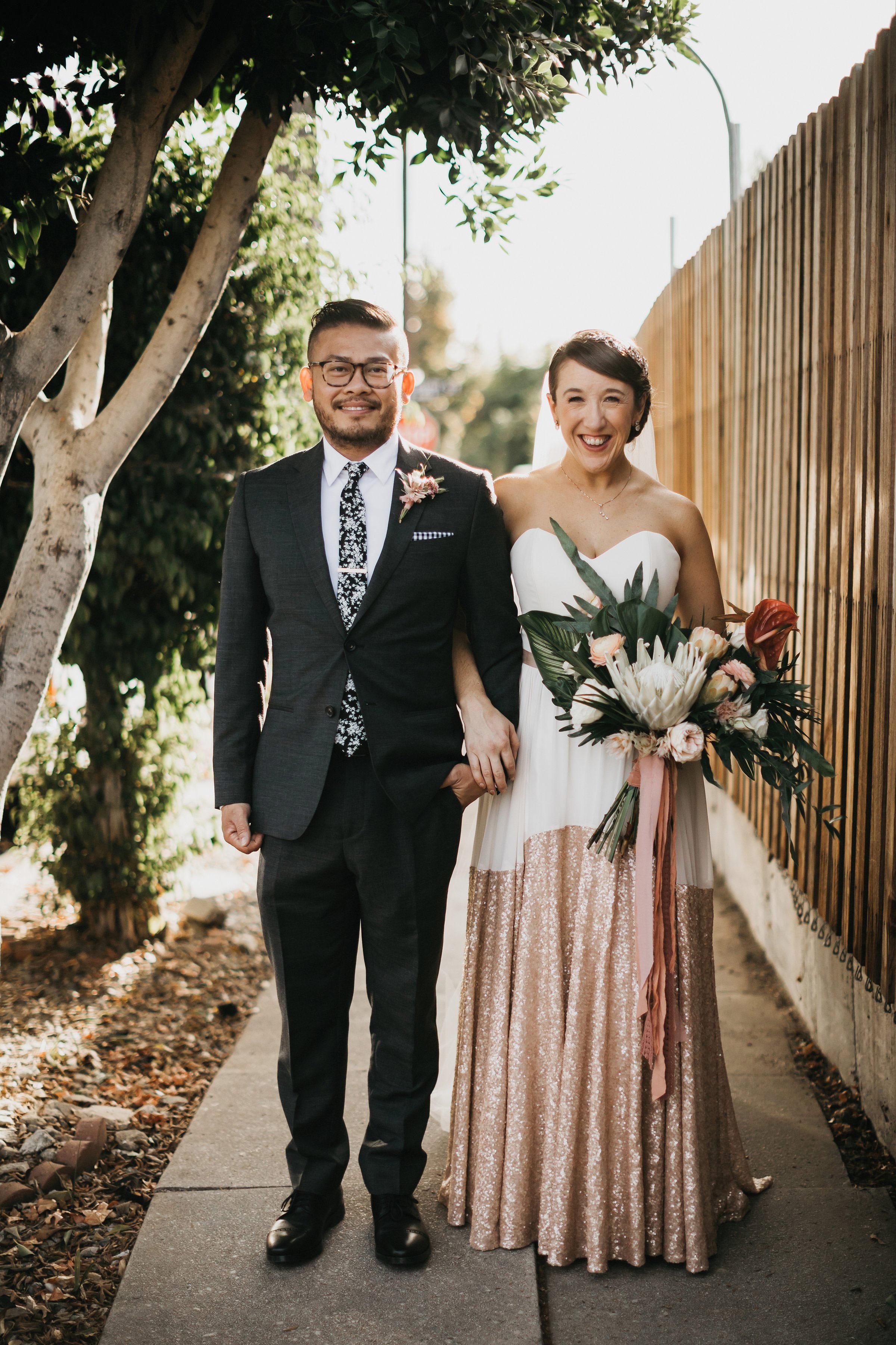 colleen pip wedding couple smile