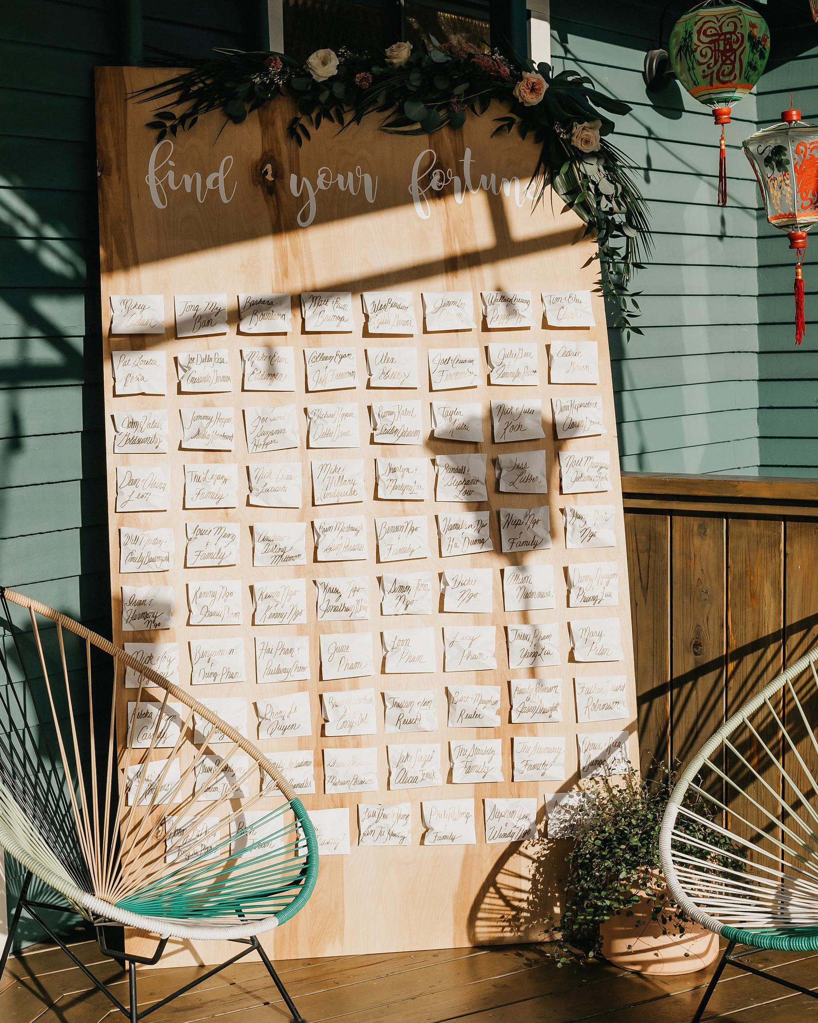 colleen pip wedding escort cards fortune