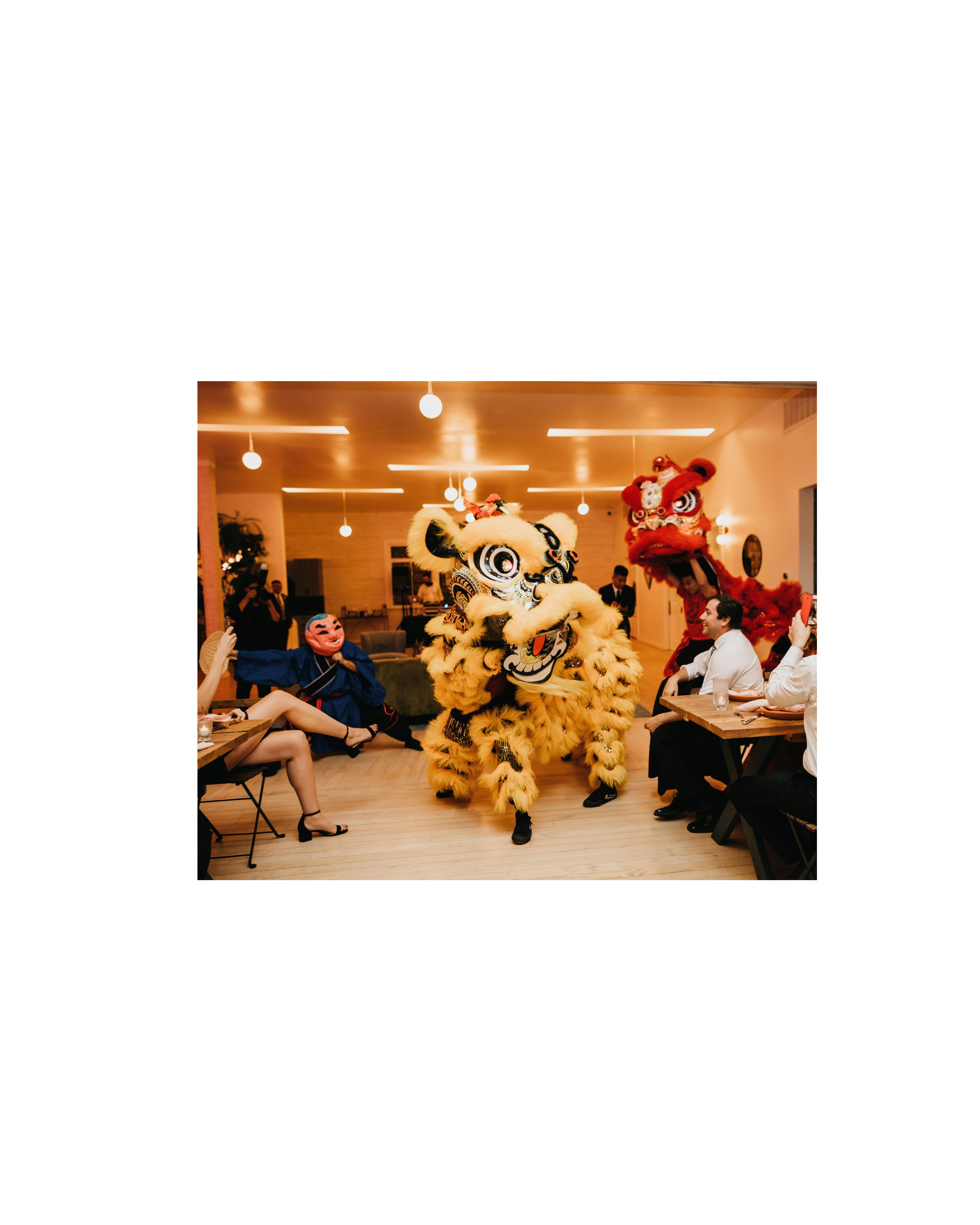 colleen pip wedding lion dance