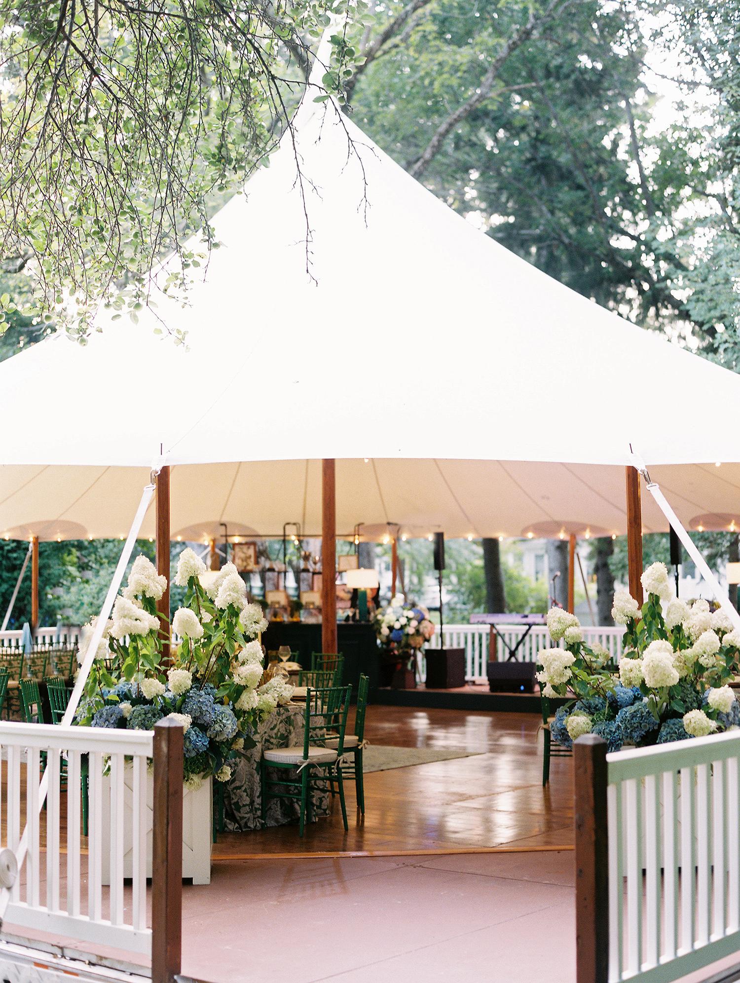 charles andrew wedding reception tent