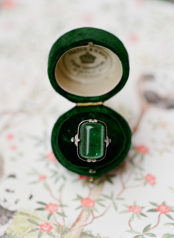 diana alex wedding green ring