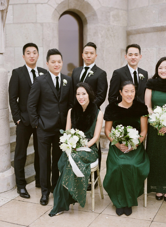 diana alex wedding bridal party