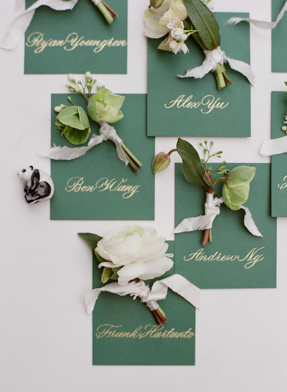 diana alex wedding boutonniere